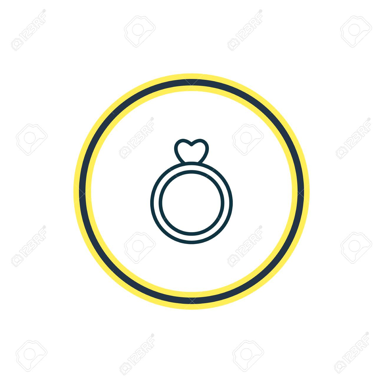 Vector illustration of ring icon line. Beautiful amour element also can be used as engagement icon element. - 111753640
