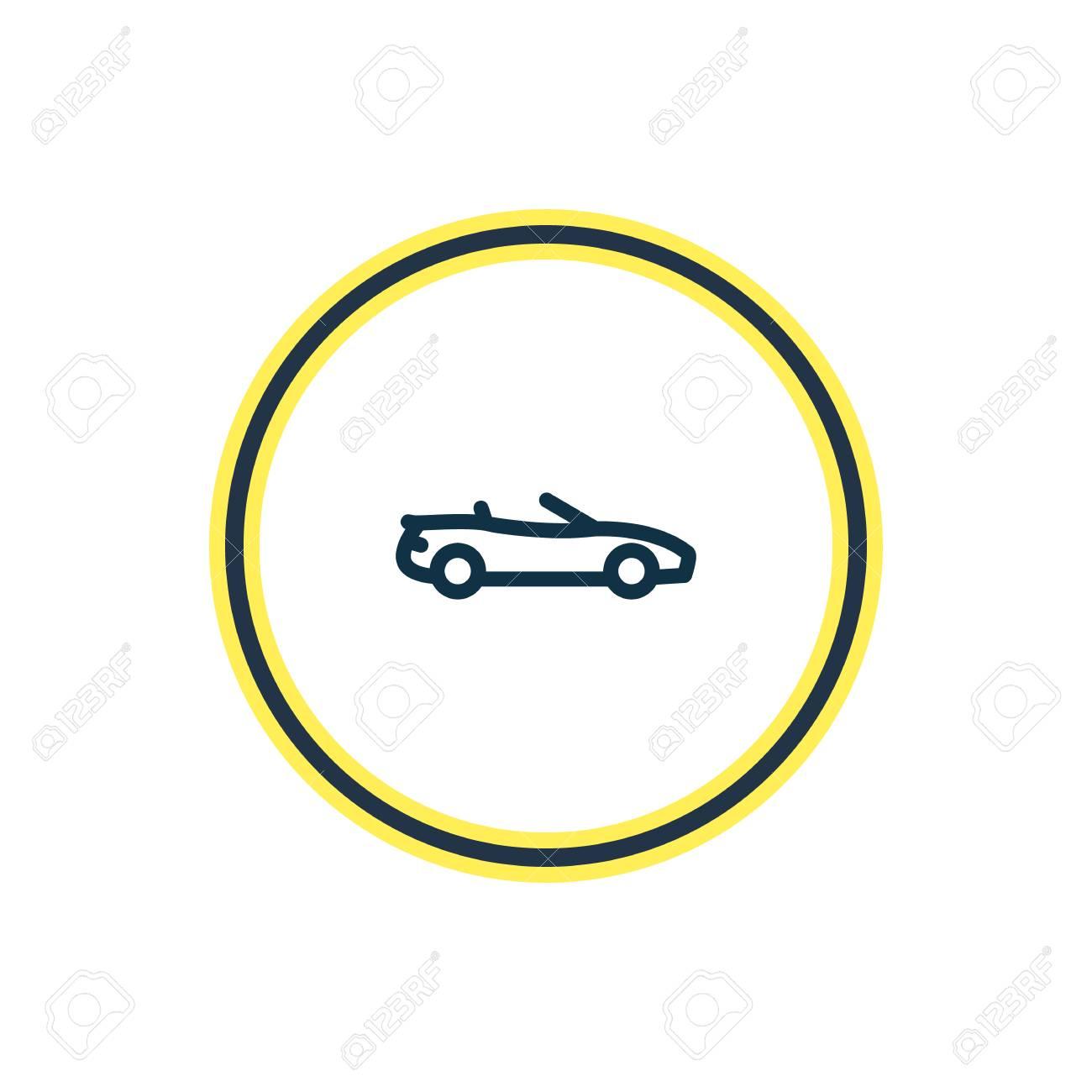 Illustration Of Luxury Car Icon Line Beautiful Transport Element