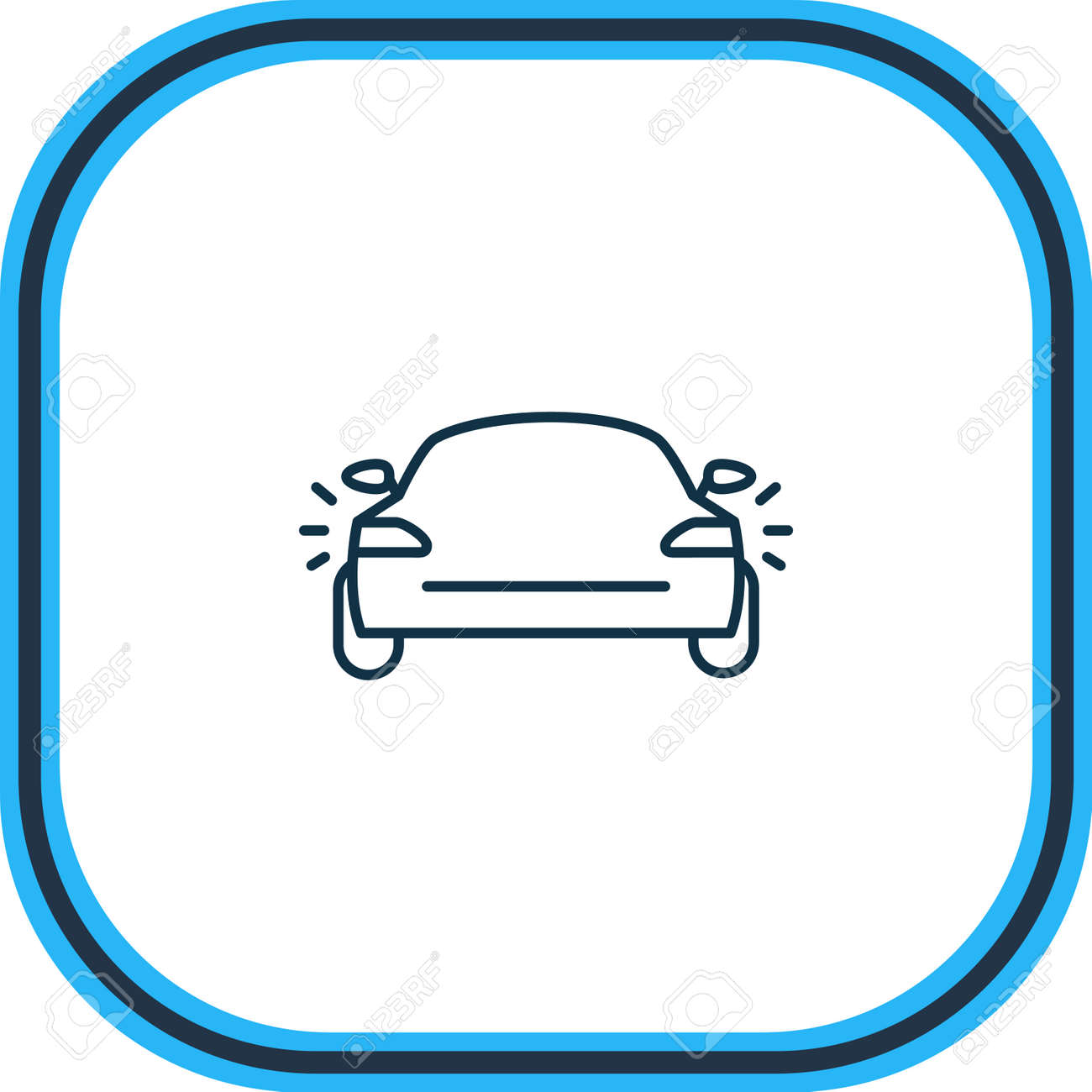 illustration of tail light icon line. Beautiful vehicle element also can be used as headlights icon element. - 157462674