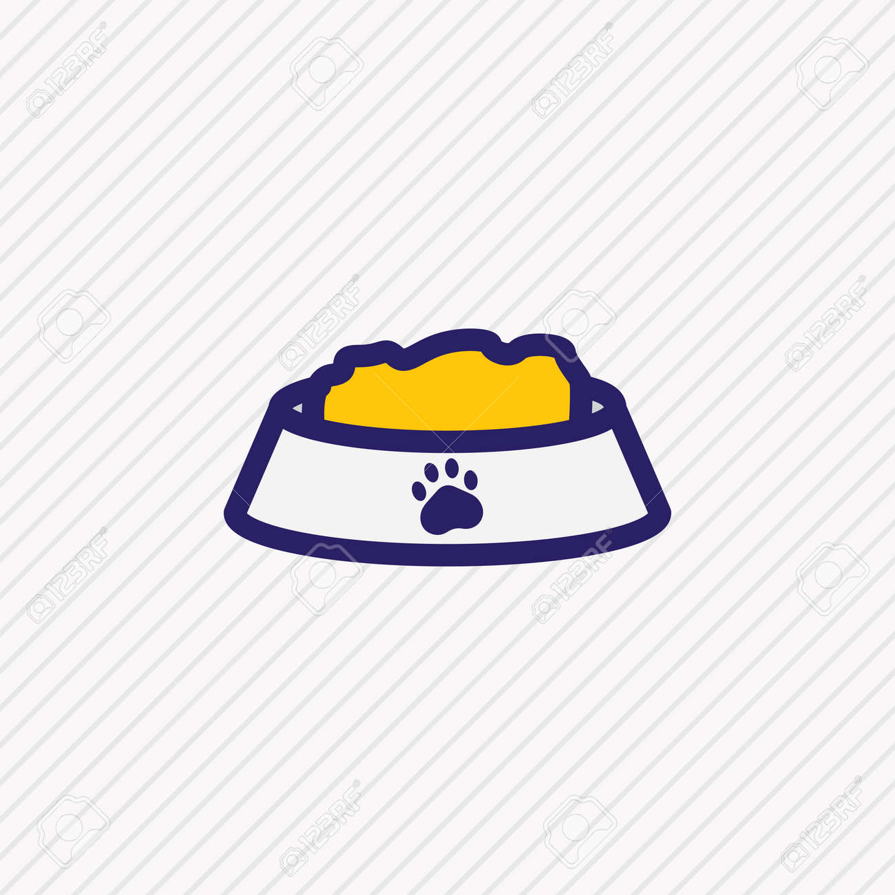illustration of nutrition icon colored line. Beautiful animal element also can be used as pet food icon element. - 157462677
