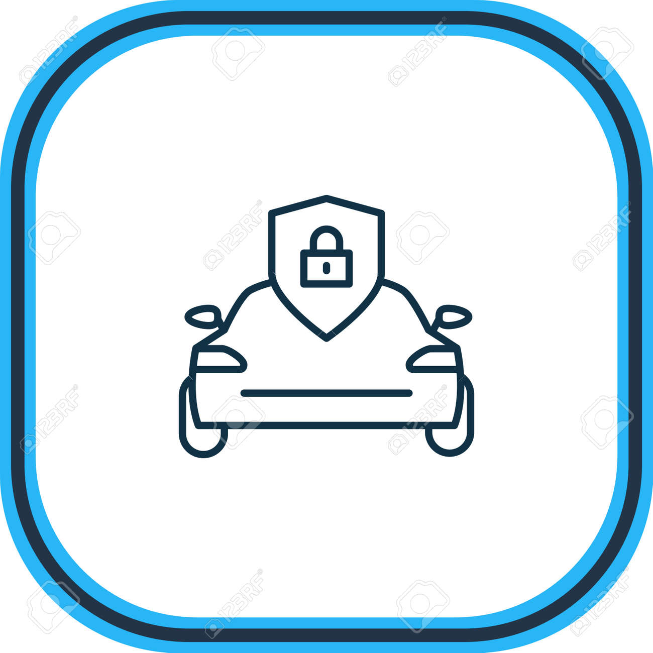 illustration of sun protectors icon line. Beautiful details element also can be used as security icon element. - 157462681