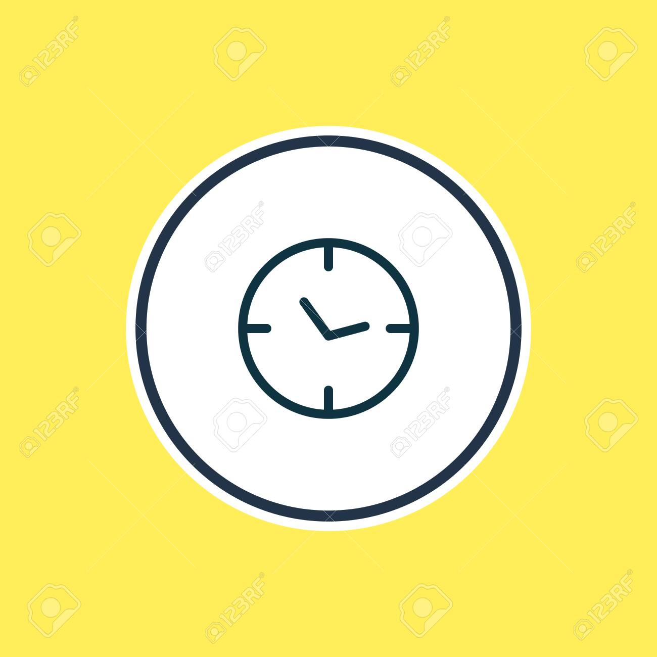 illustration of clock icon line. Beautiful contact element also can be used as watch icon element. - 157462682