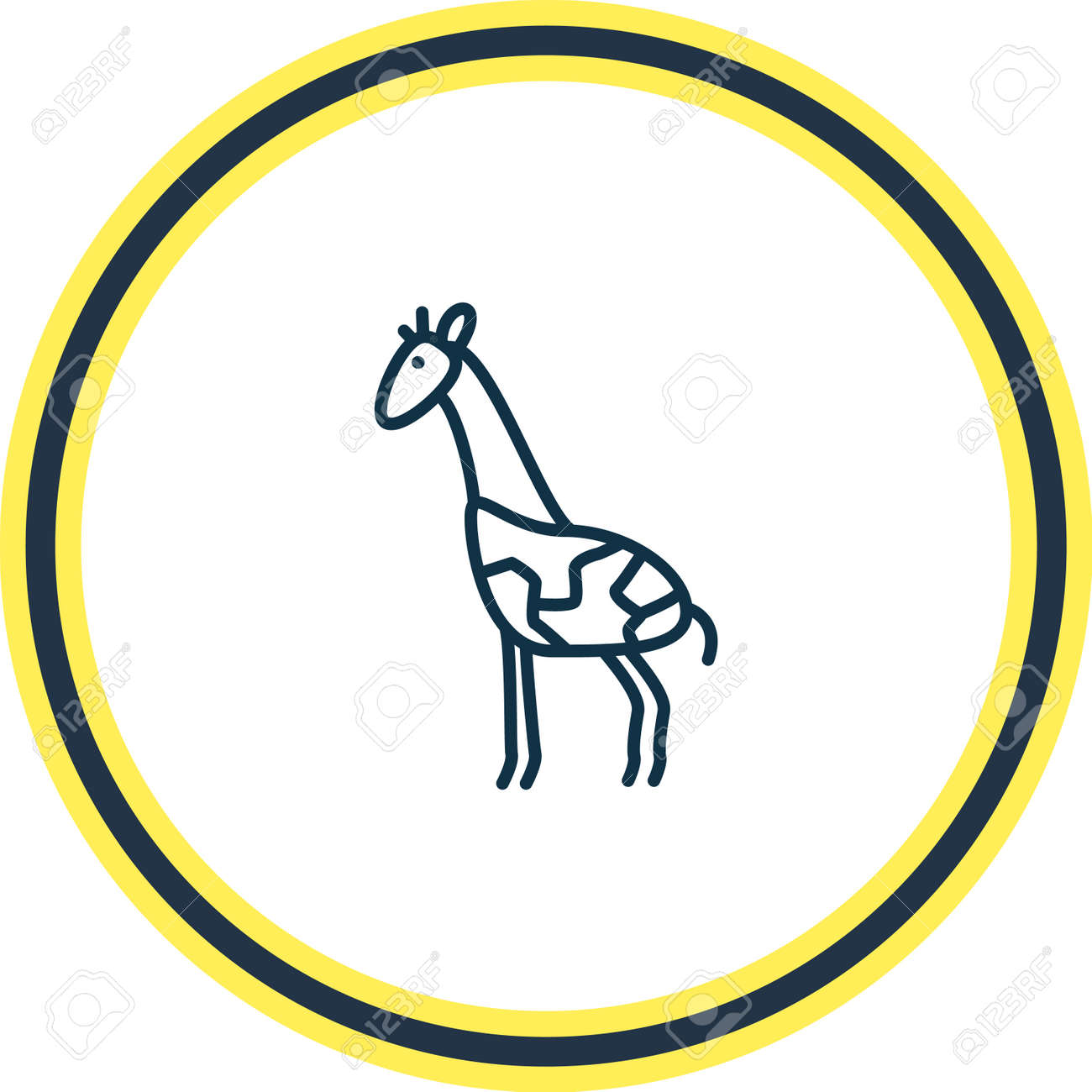 illustration of giraffe icon line. Beautiful zoology element also can be used as mammal icon element. - 157462684
