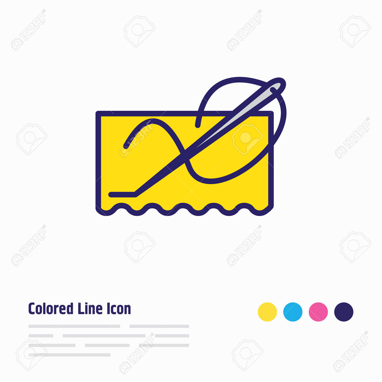 illustration of stitching icon colored line. Beautiful lifestyle element also can be used as needlework icon element. - 157462694