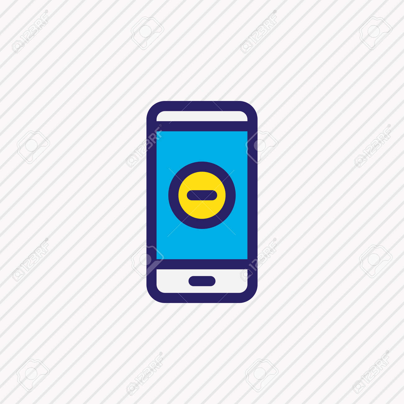 illustration of remove icon colored line. Beautiful smartphone element also can be used as minus icon element. - 157462759