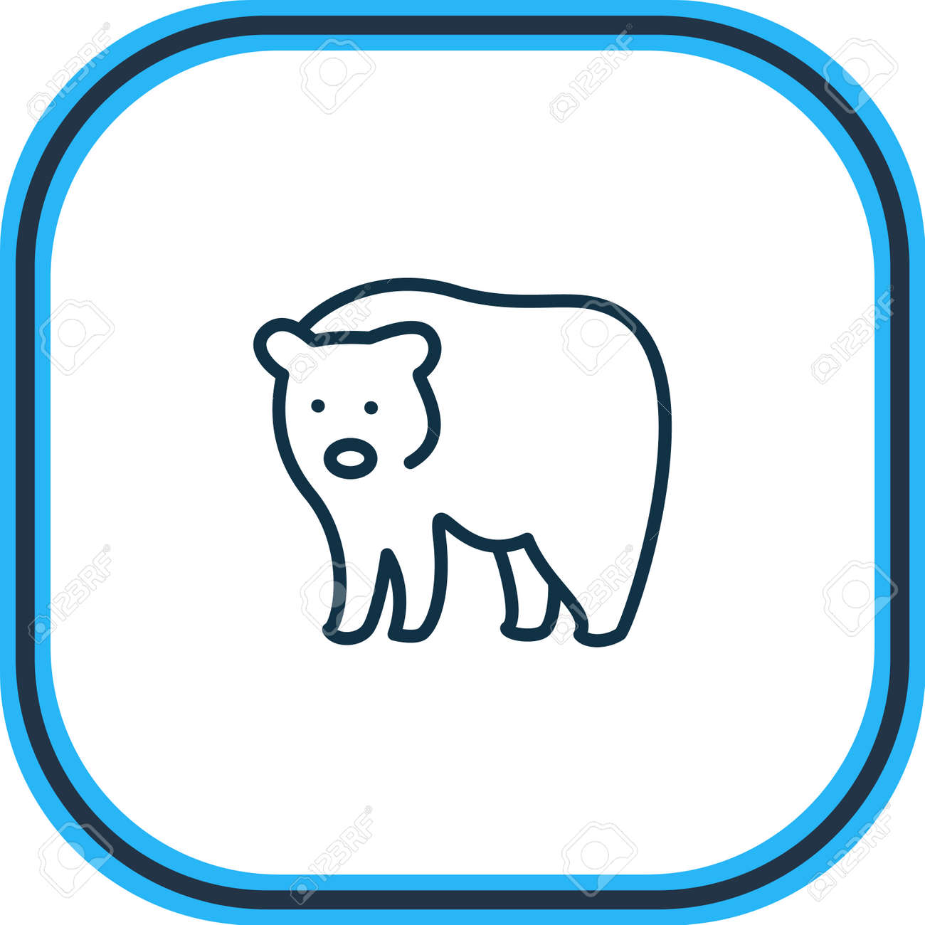 Vector illustration of bear icon line. Beautiful zoology element also can be used as grizzly icon element. - 158380316