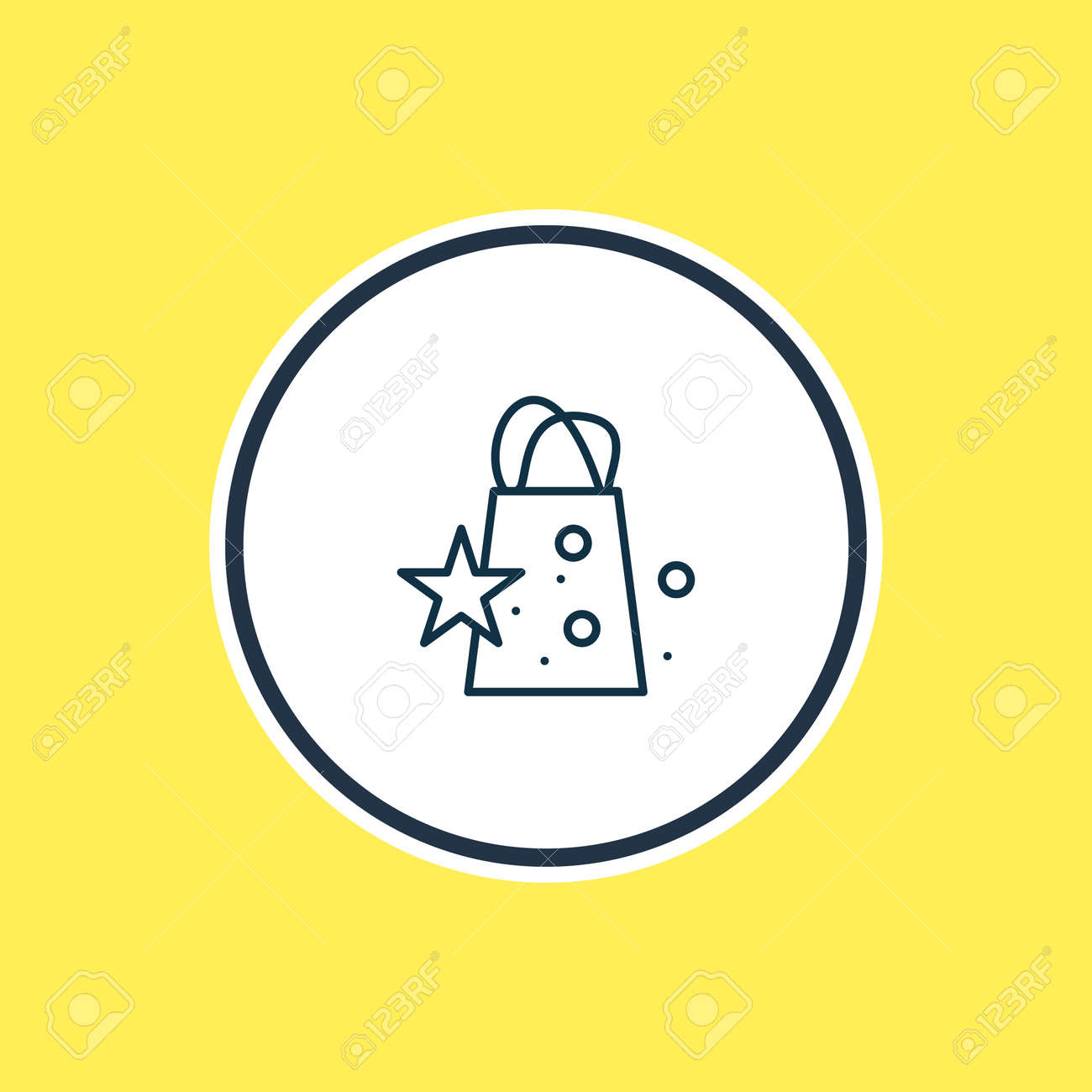 Vector illustration of gift bags icon line. Beautiful baby element also can be used as merchandise icon element. - 158380330