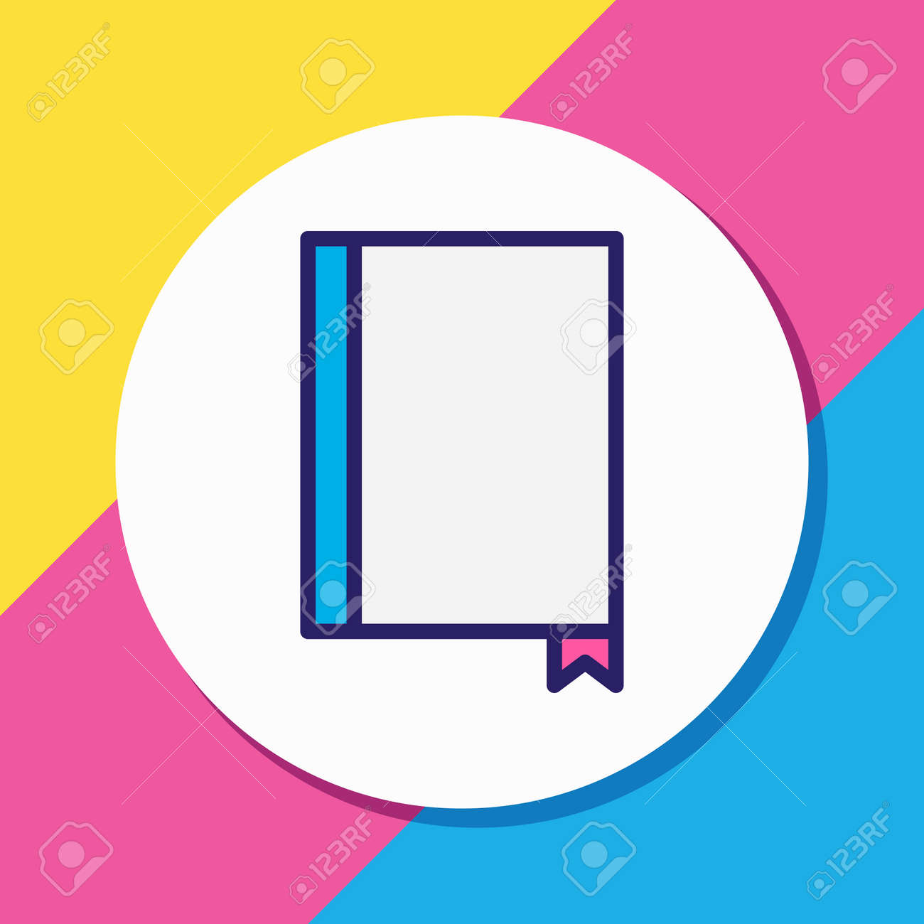 Vector illustration of menu icon colored line. Beautiful restaurant element also can be used as bookmark icon element. - 158380379