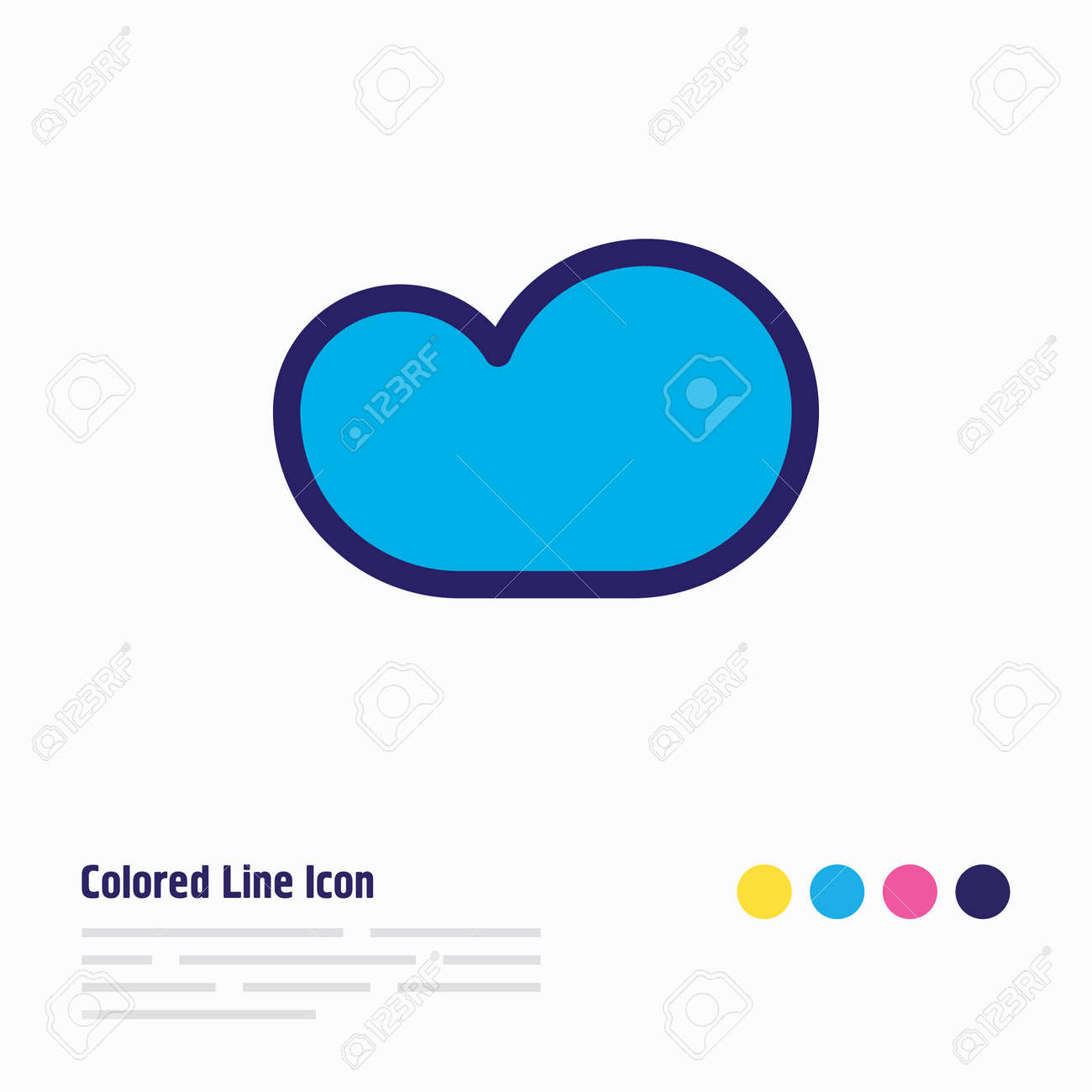 Vector illustration of cloud storage icon colored line. Beautiful internet element also can be used as backup icon element. - 158380460
