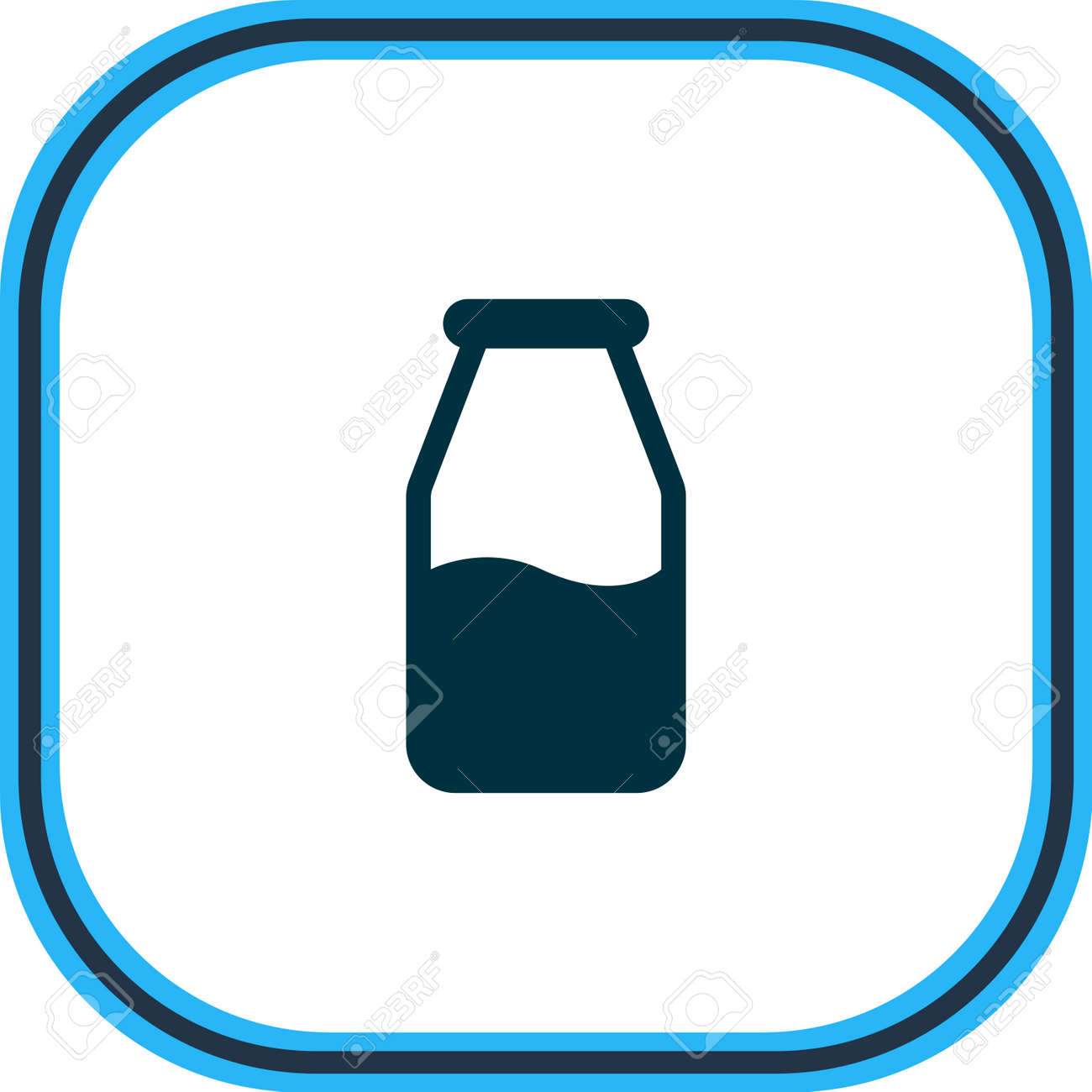 illustration of milk bottle icon line. Beautiful food element also can be used as cruet icon element. - 158379934