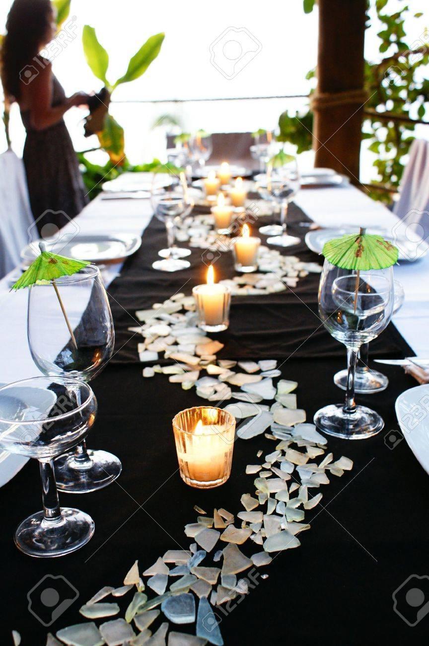 Green Table setting Stock Photo - 4367020