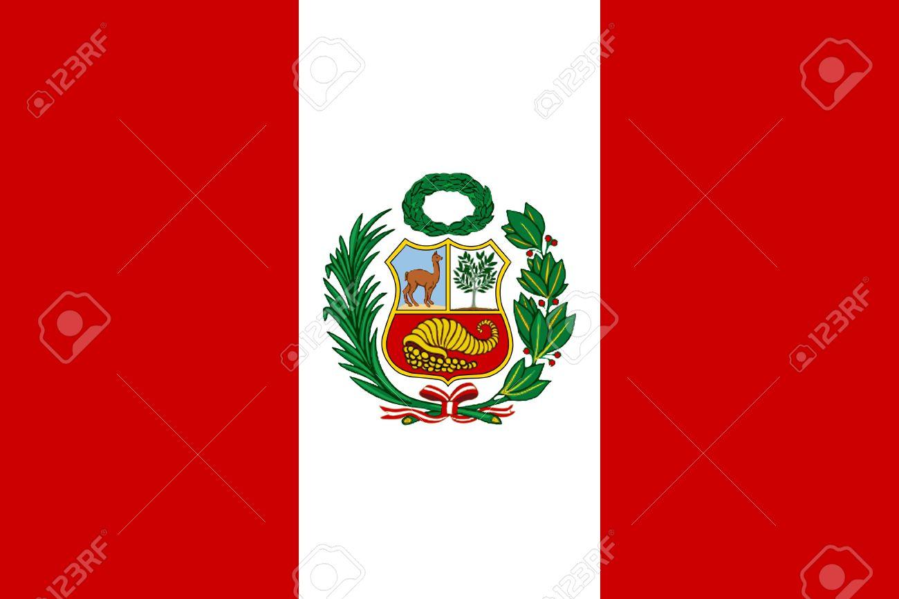国章とペルーの旗 ロイヤリティ...