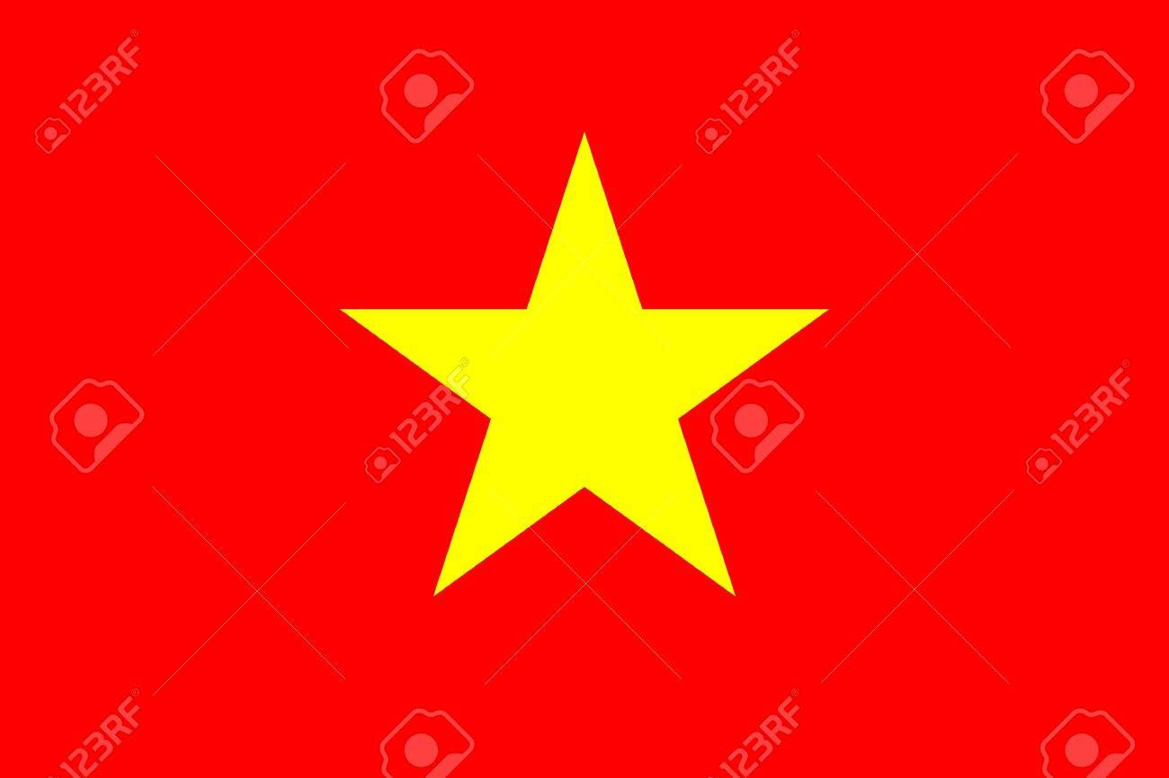 Flag of the Socialist Republic of Vietnam Stock Photo - 524169