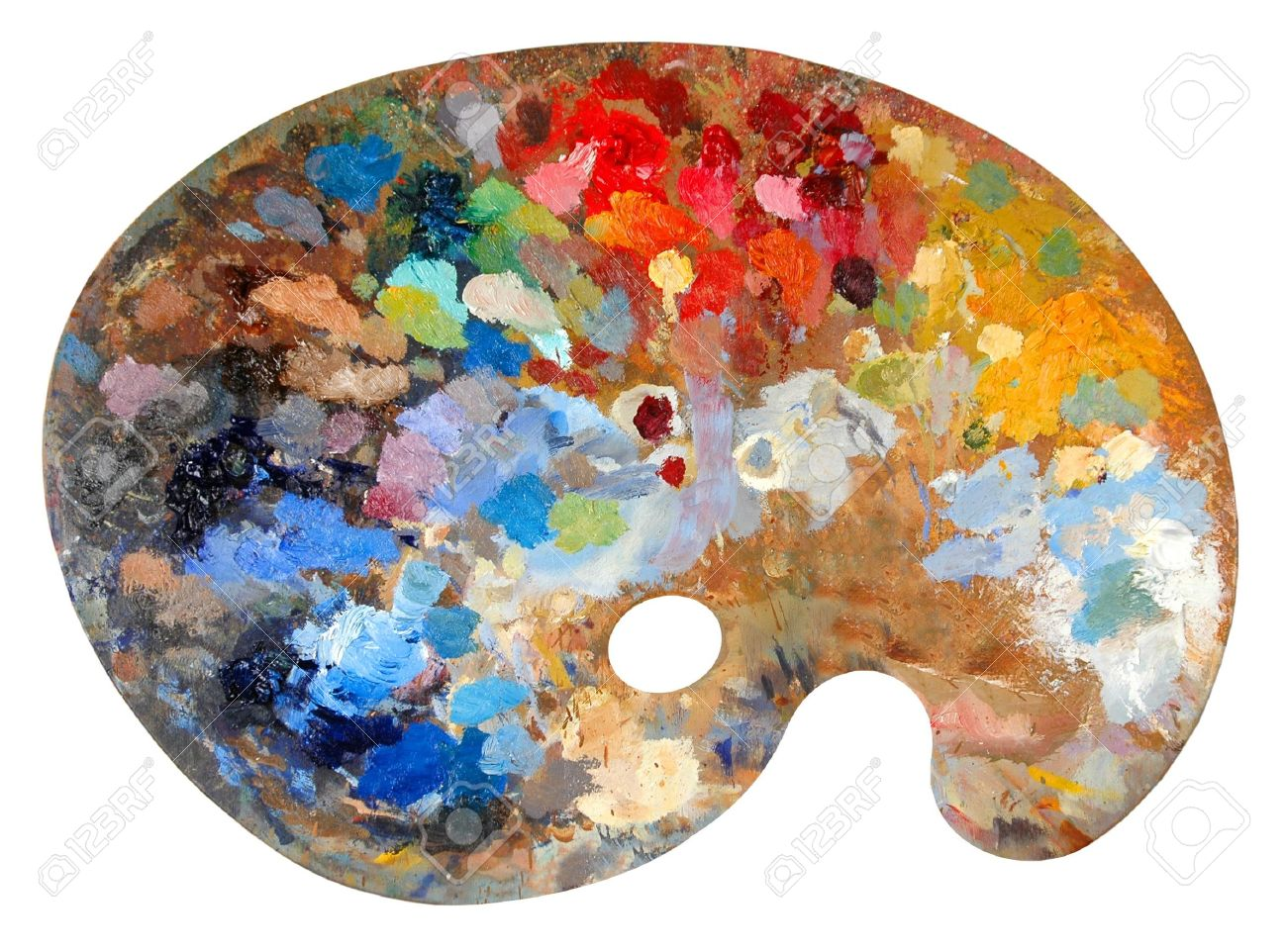 Artist's palette with multiple
