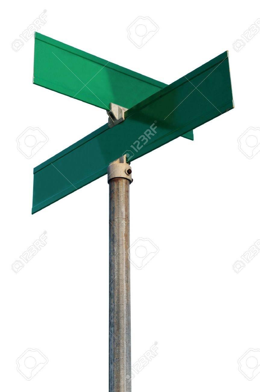 Blank Crossroads Sign
