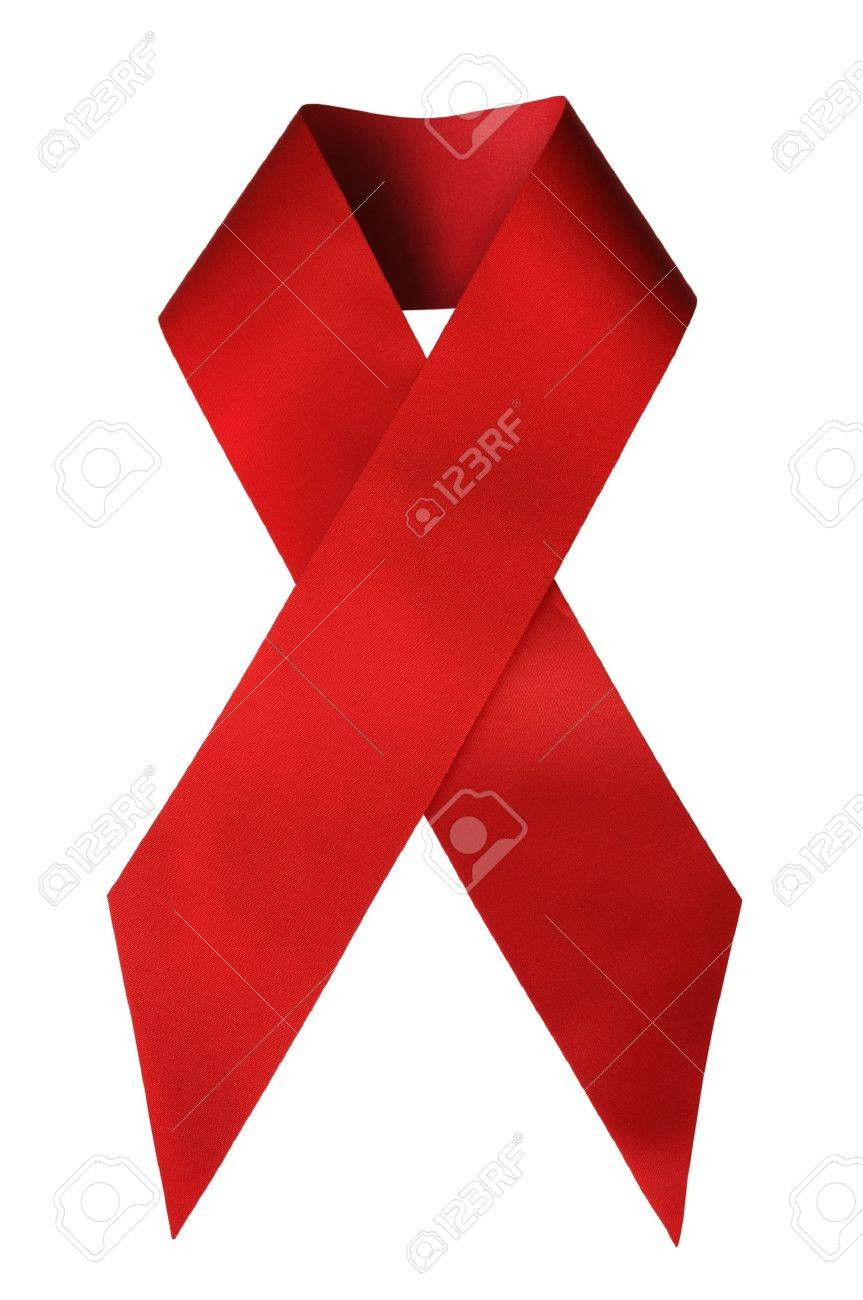 The Red Ribbon, the global symbol for solidarity with HIV positive and people living with AIDS Stock Photo - 7751694