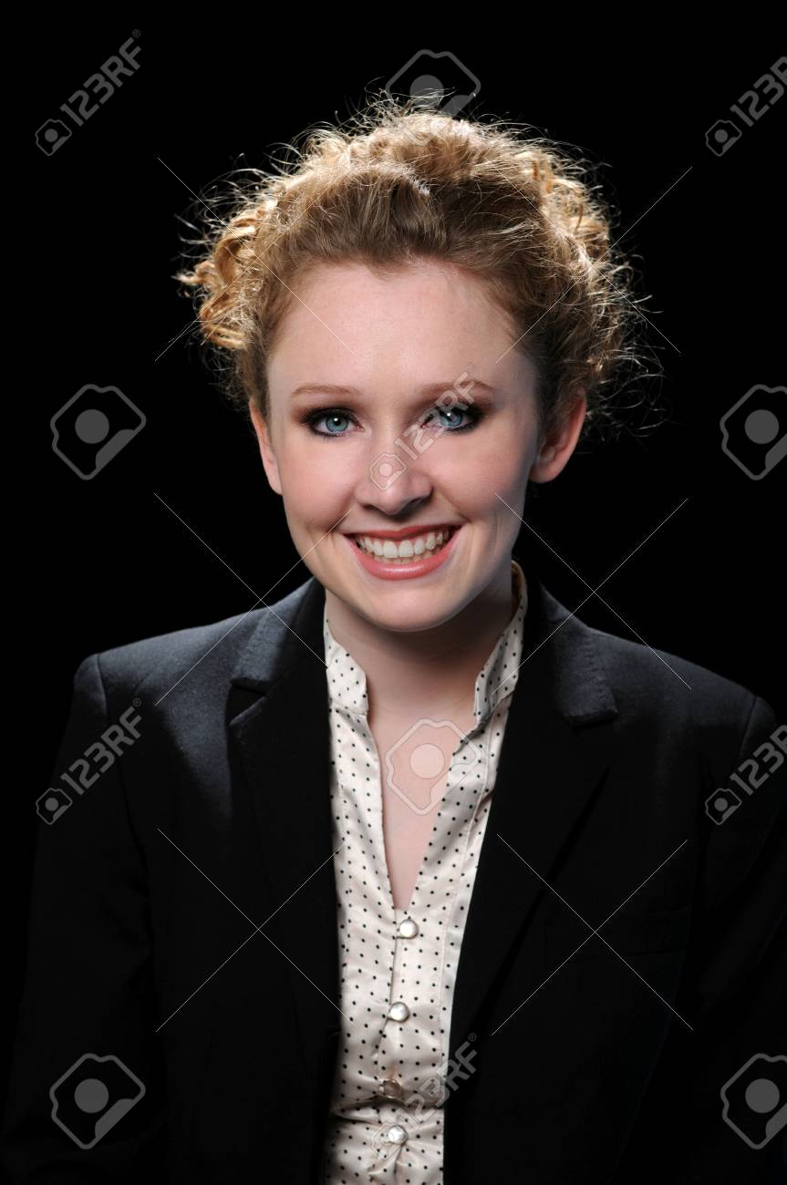 Beautiful businesswoman smiling looking into the camera Stock Photo - 7752093