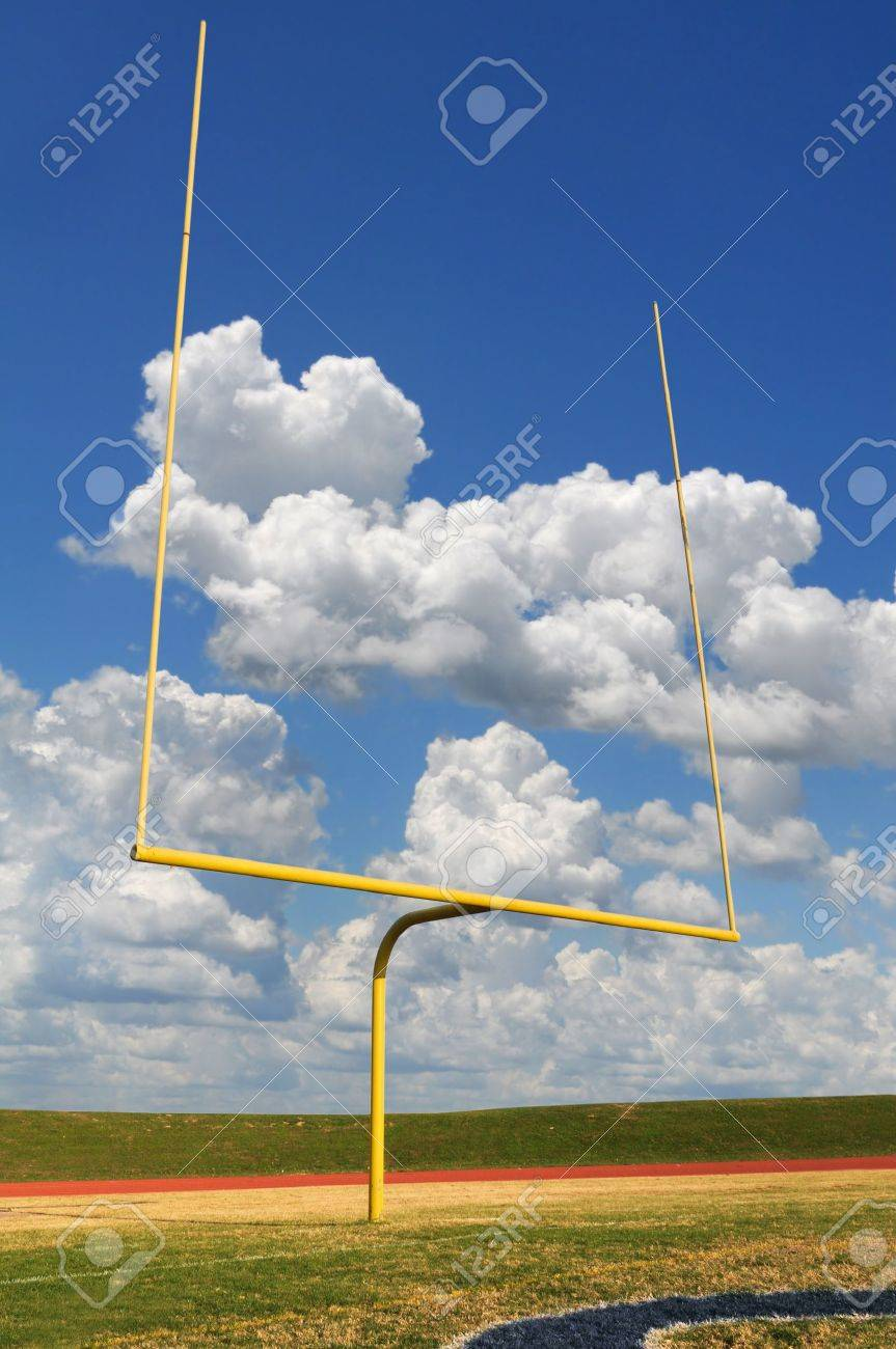 Football goal on a bright sunny day Stock Photo - 7898336