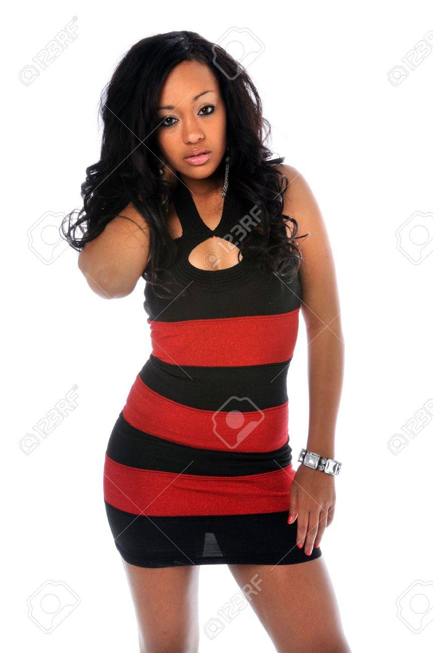 Portrait of young African american woman posing Stock Photo - 7887463