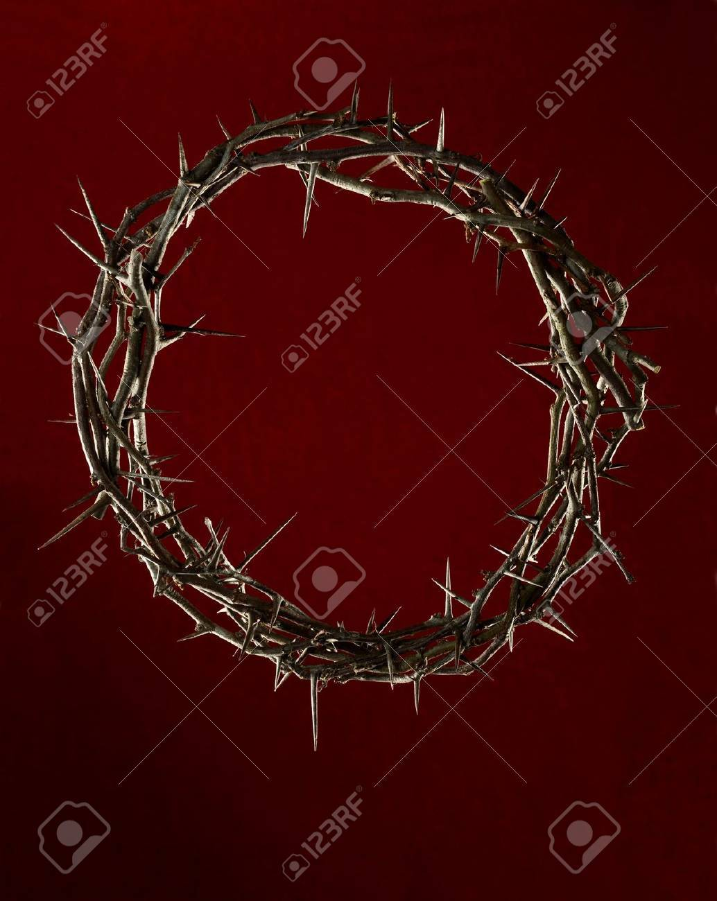Crown of thorns on red dark background Stock Photo - 16713107
