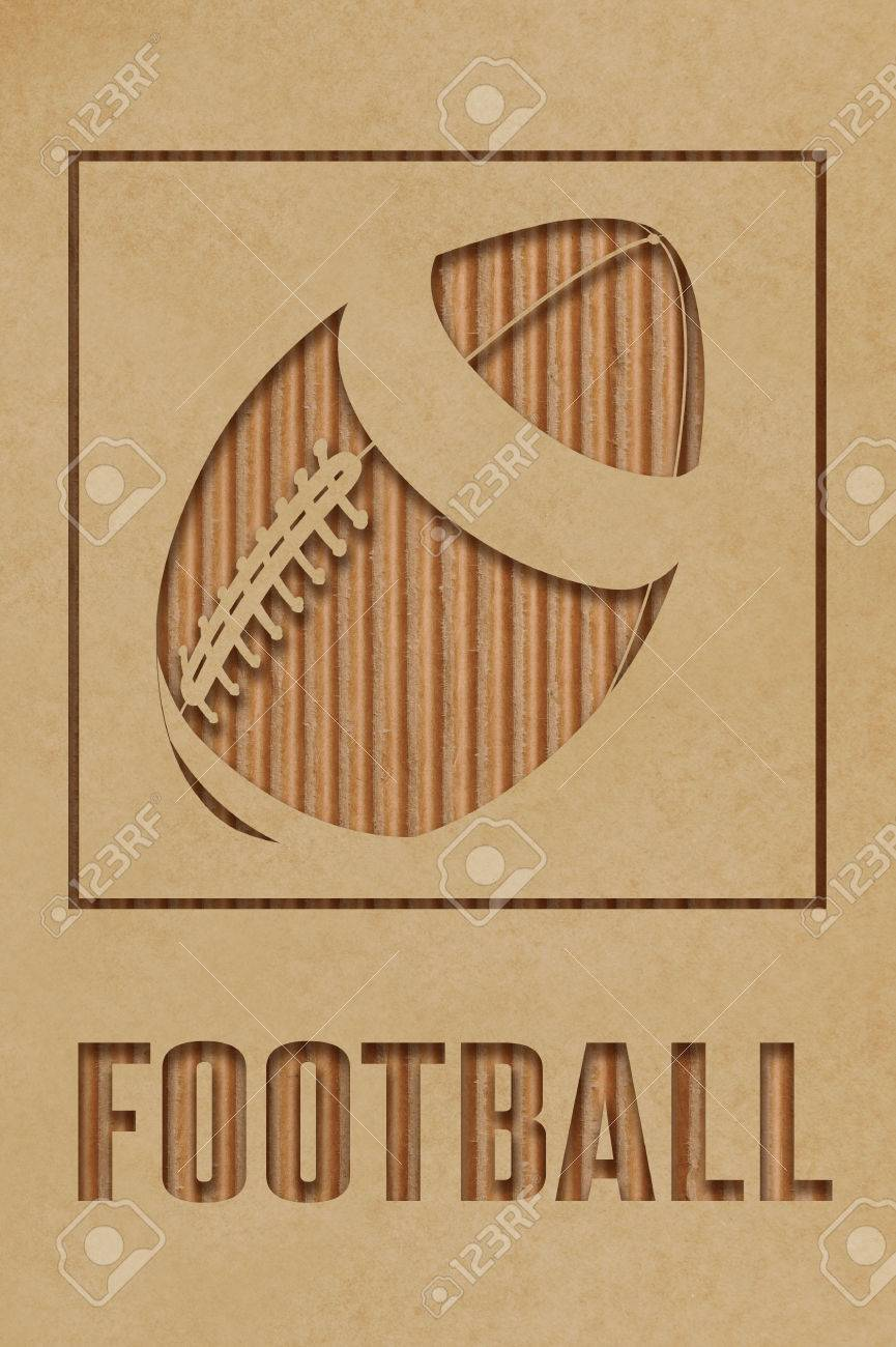 Football Art Concept Made From Cutout Cardboard Stock Photo Picture And Royalty Free Image Image 30675465