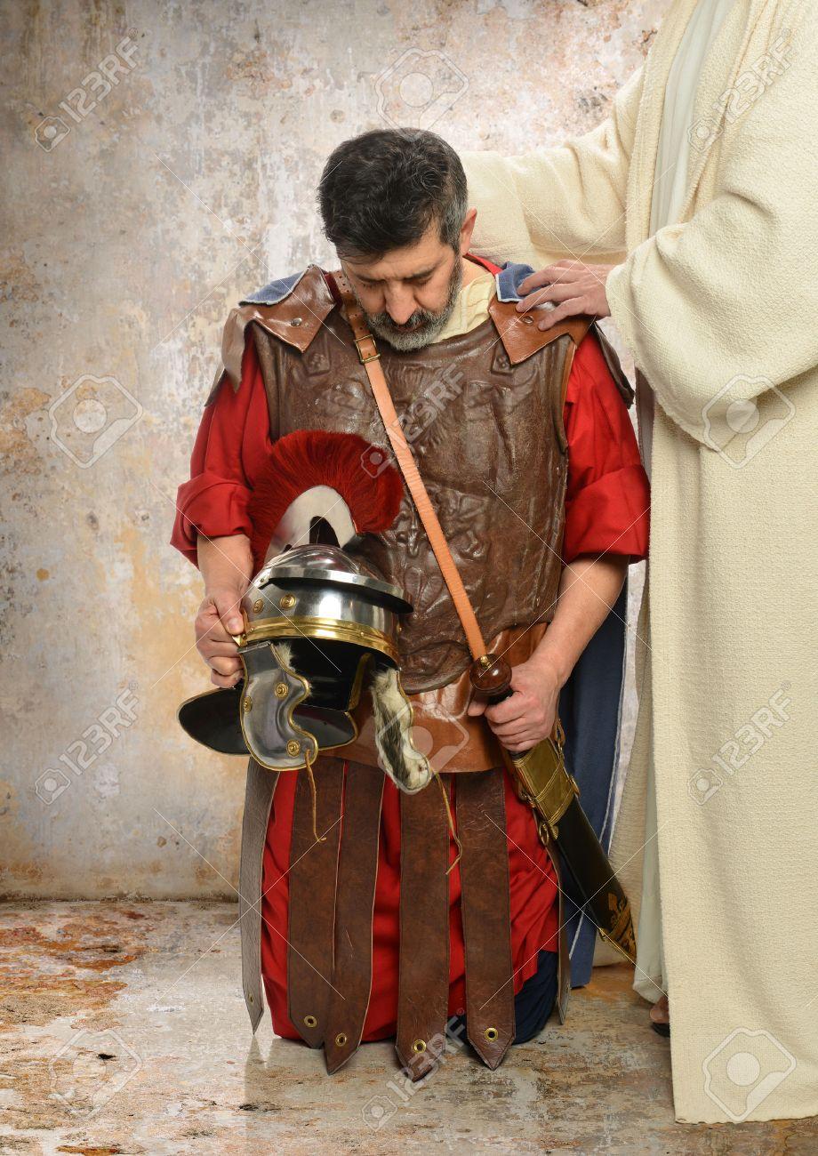Jesus laying hands on Roman Centurion - 31388541