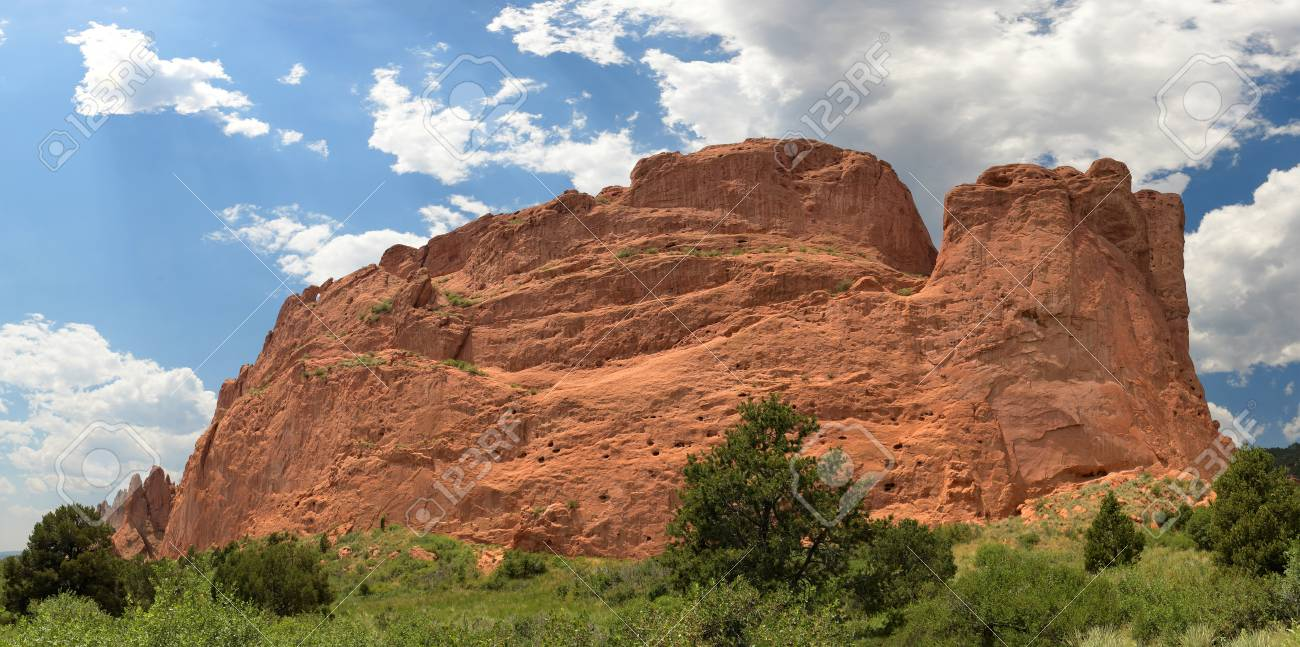 Garden Of The Gods In Colorado Springs - Stitched From 6 Images ...