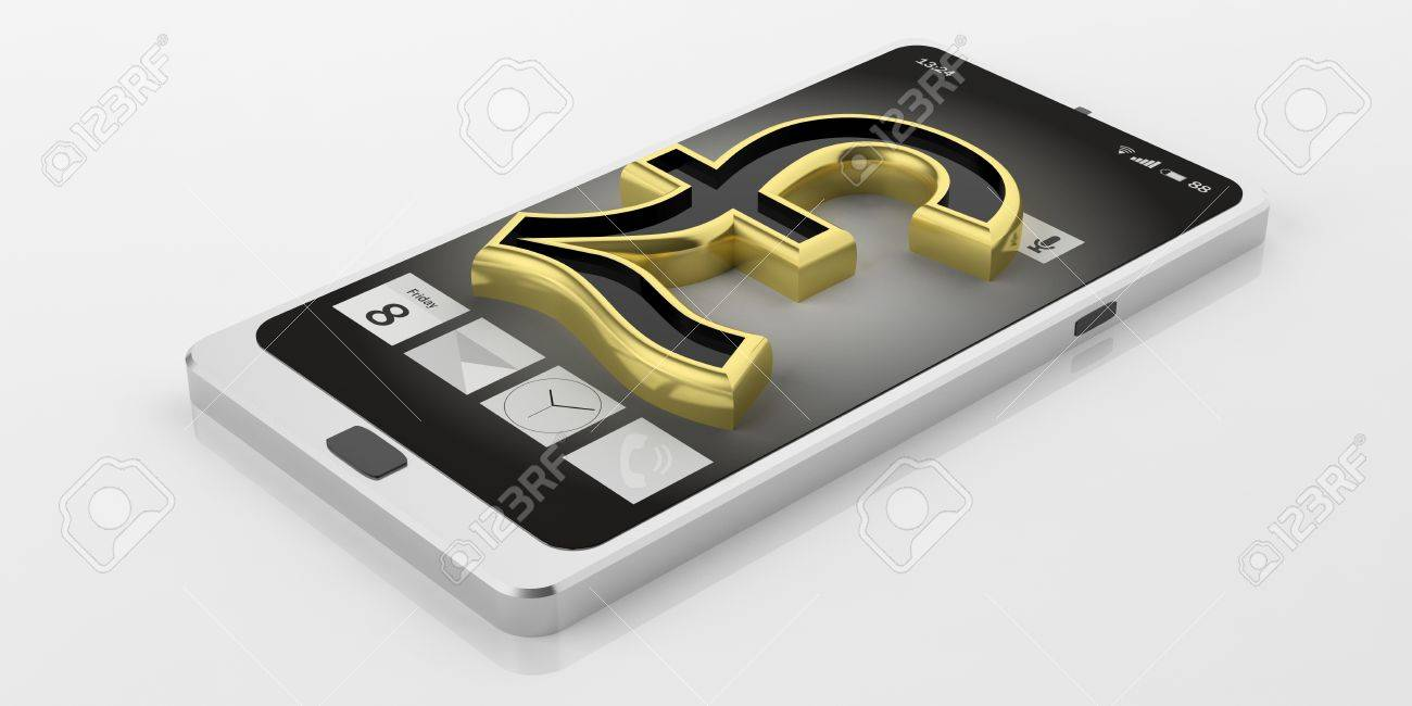 3d rendering golden british pound symbol on a smart phone stock 3d rendering golden british pound symbol on a smart phone stock photo 60778198 biocorpaavc Choice Image