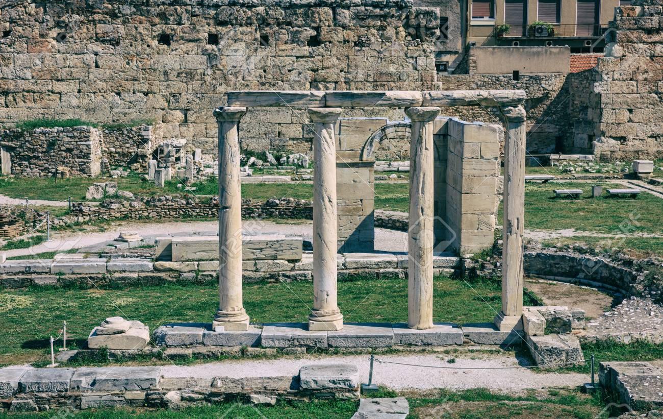 アテネ、ギリシャのローマ時代の...