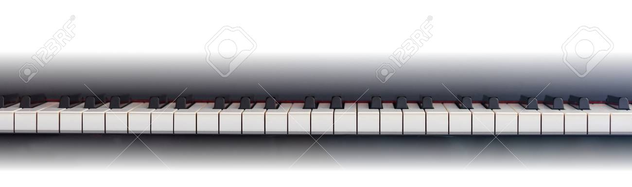 Piano Keyboard Banner Front View Copy Space Stock Photo Picture And Royalty Free Image Image 90168518