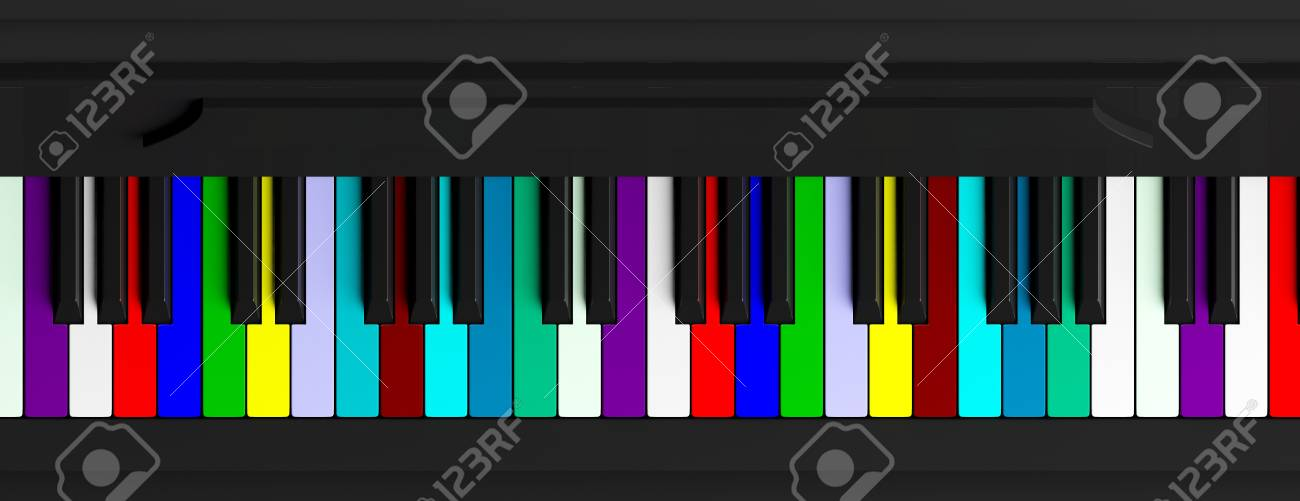 Diversity Concept Rainbow Piano Keyboard Top View Banner Stock Photo Picture And Royalty Free Image Image 91896097