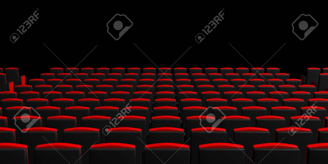 Picture of: Red Theater Chairs On Dark Background View From Behind Copyspace Stock Photo Picture And Royalty Free Image Image 92468475