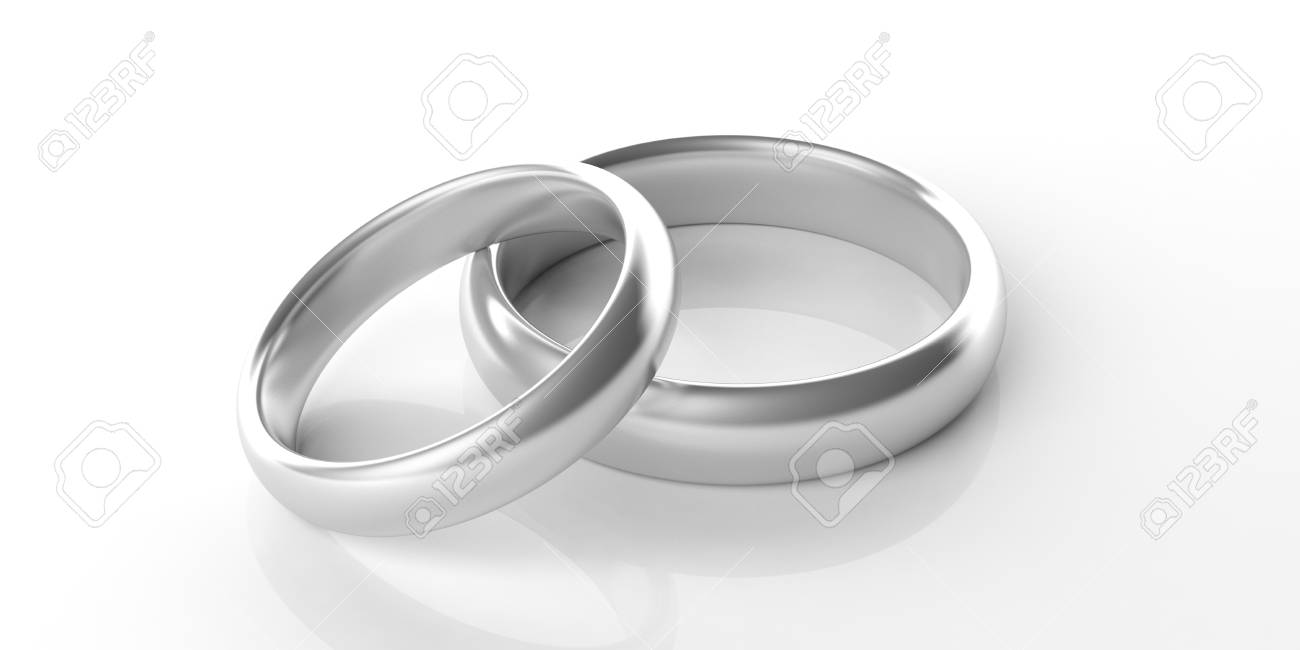 Platinum Wedding Rings.Stock Illustration