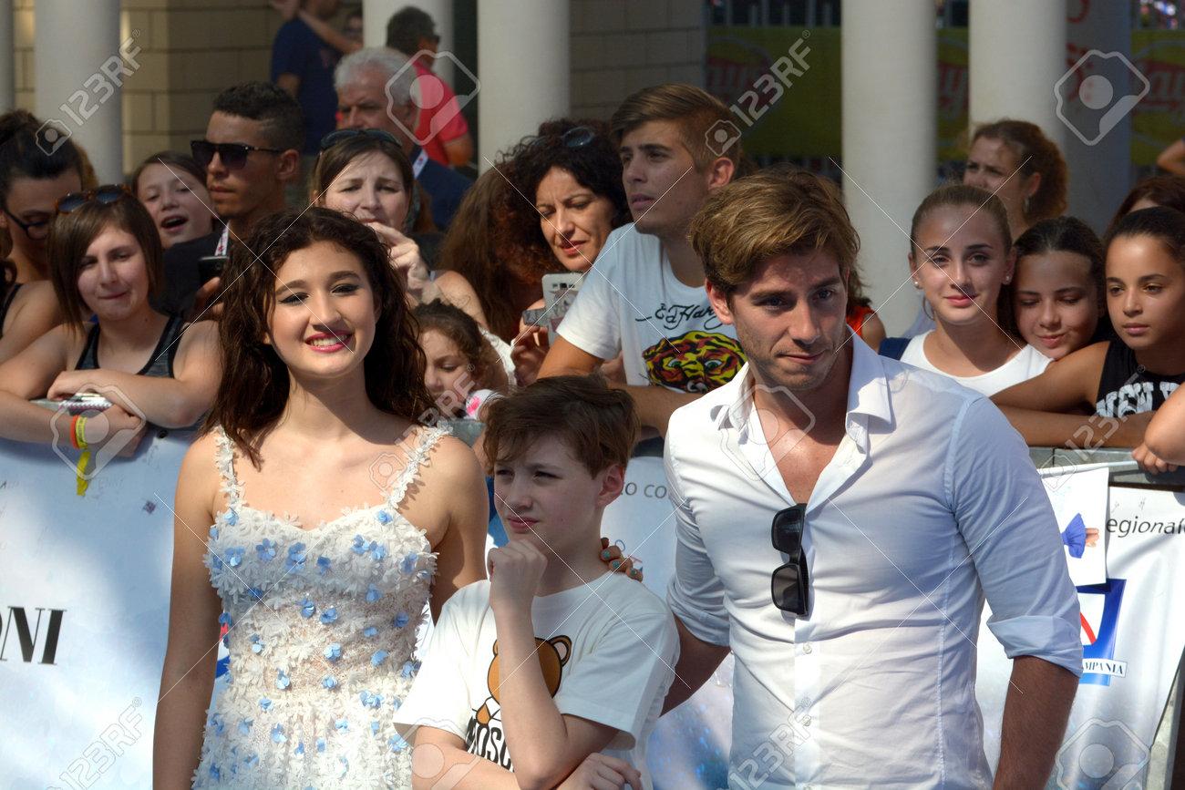Giffoni Valle Piana, Sa, Italy - July 24, 2018 : Cast Tv Series