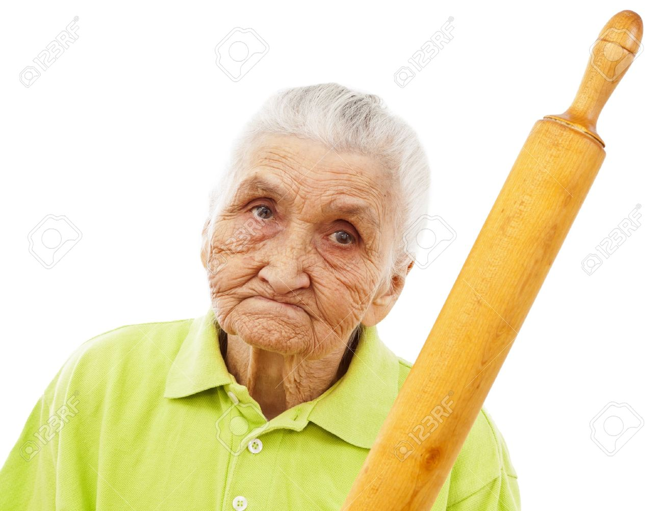 11913897-angry-old-woman-holding-a-rolli