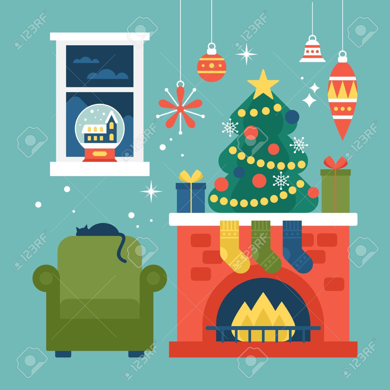 Modern Creative Christmas Greeting Card Design With Christmas
