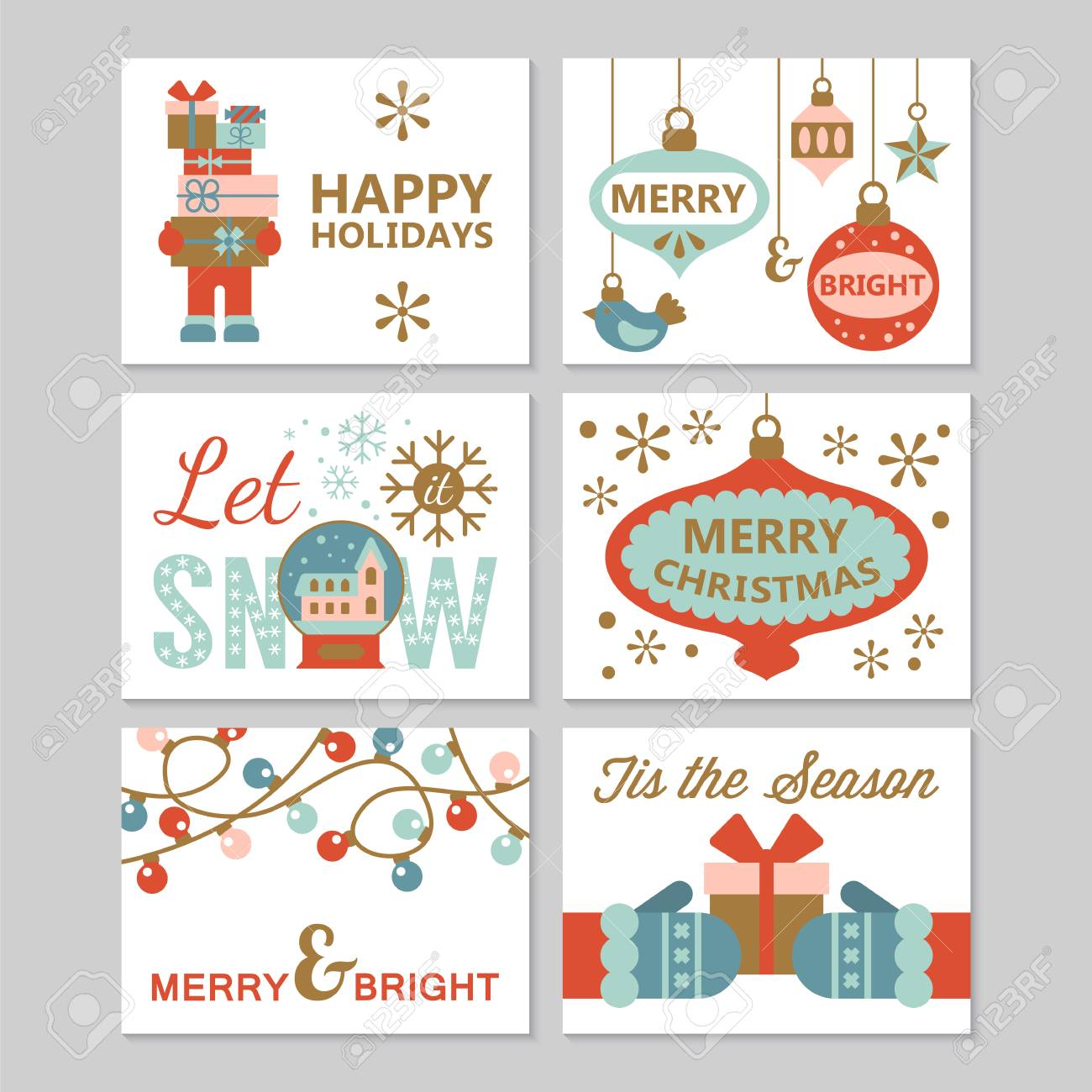 Greeting cards design for christmas holiday and new year modern greeting cards design for christmas holiday and new year modern stylish vector illustration stock vector m4hsunfo