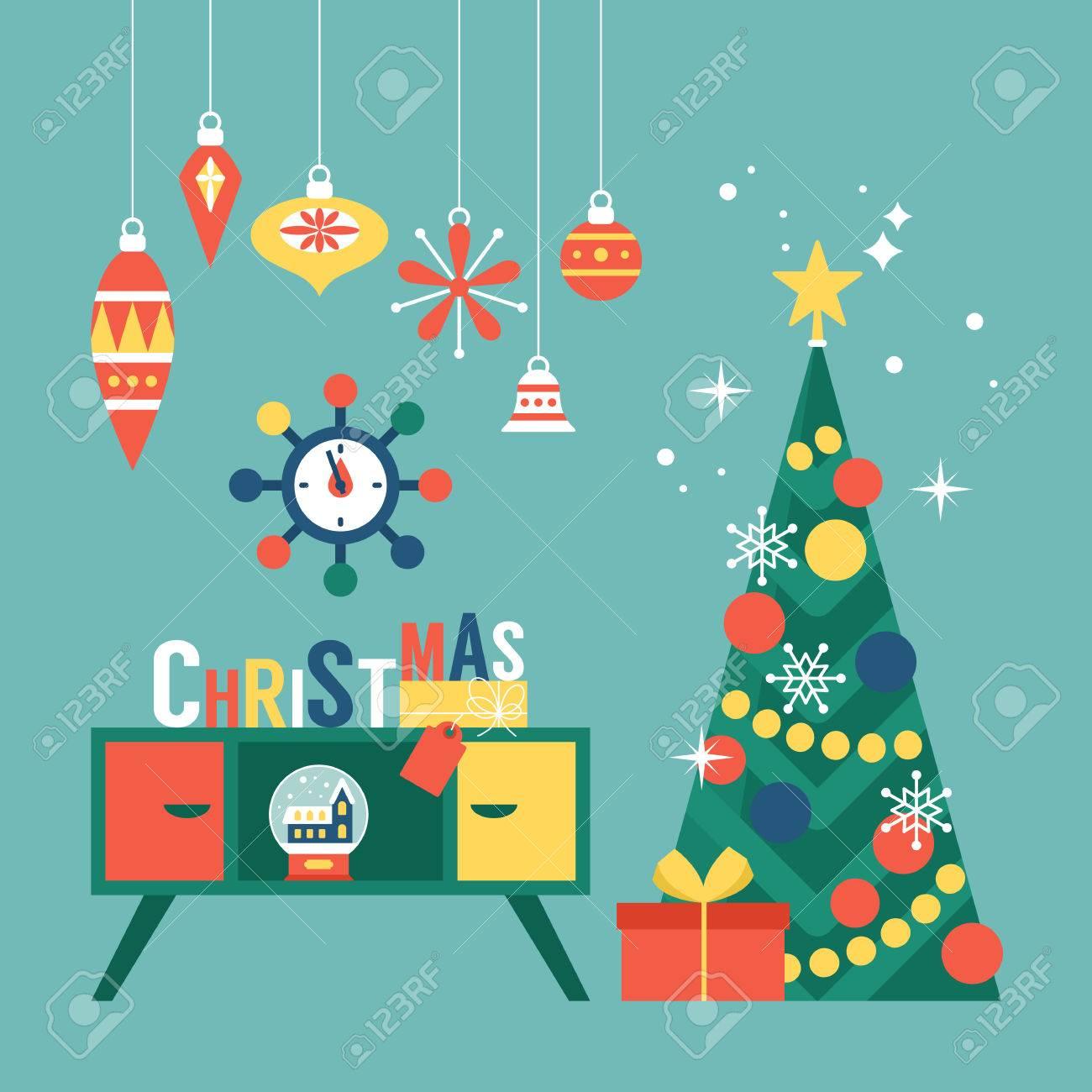 Christmas Greeting Cards.Modern Creative Christmas Greeting Card Design With Christmas