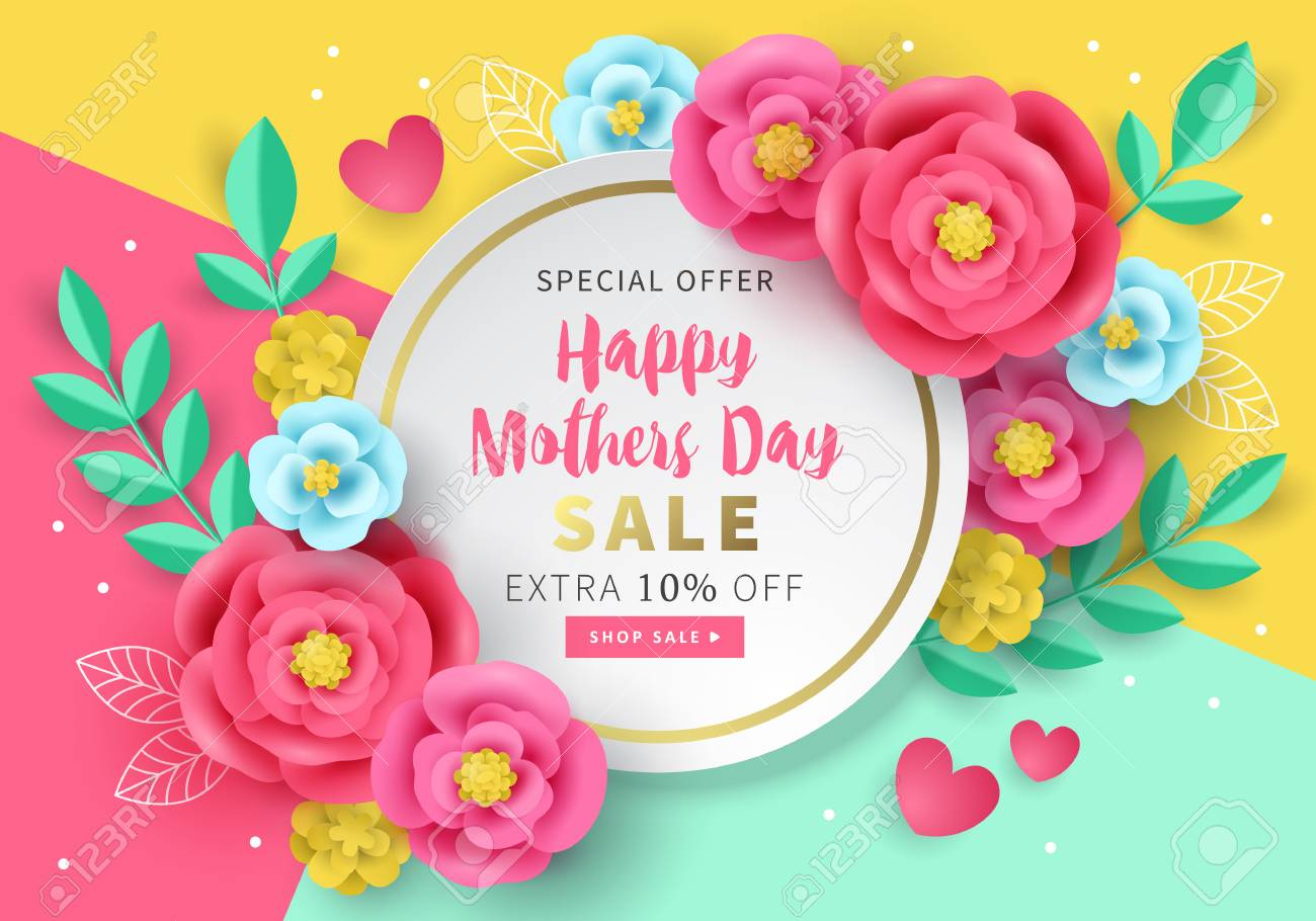 mothers day sale banner template for social media advertising