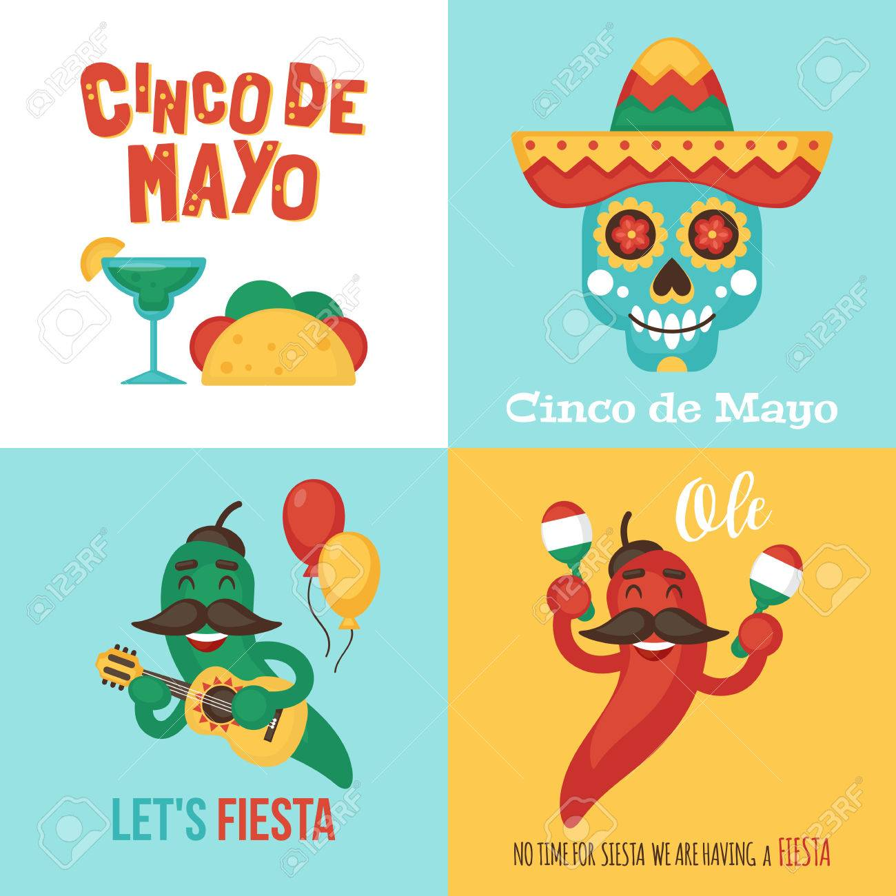 cinco de mayo mexican holiday banner poster party invitation
