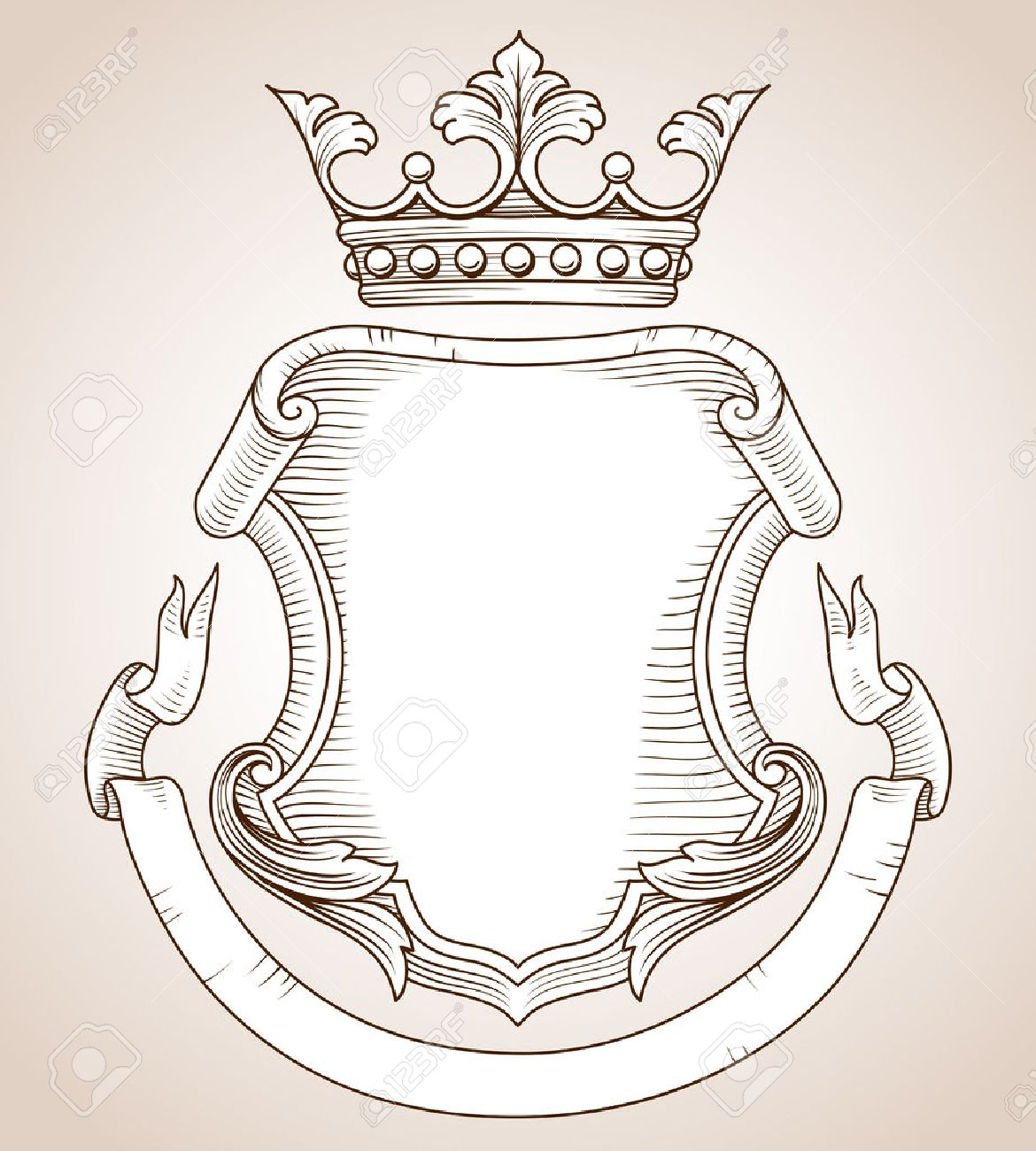 Coat of Arms - Hand-drawn, highly detailed Coat of Arms illustration - 31675663