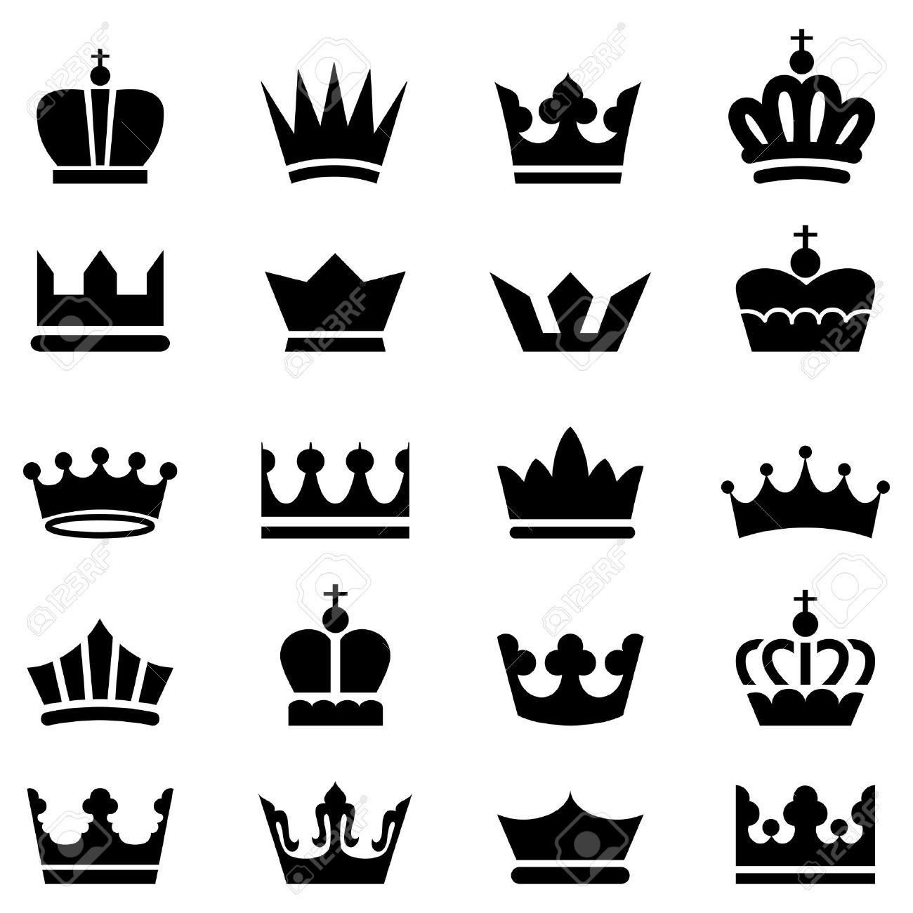 King crown stock photos royalty free king crown images crown icons a set of 20 vector crown icons isolated on a white background thecheapjerseys Choice Image