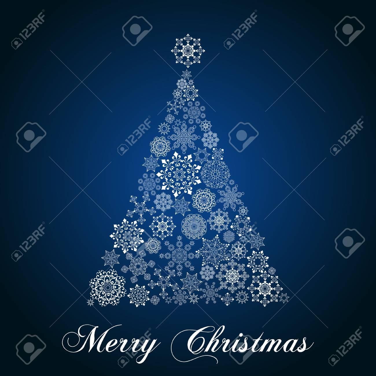 Disegni Di Natale Vettoriali.Fiocco Di Neve Albero Di Natale Albero Di Natale Disegno Su Sfondo Sfumato Ogni Fiocco Di Neve E Raggruppato Individualmente Per Un Facile