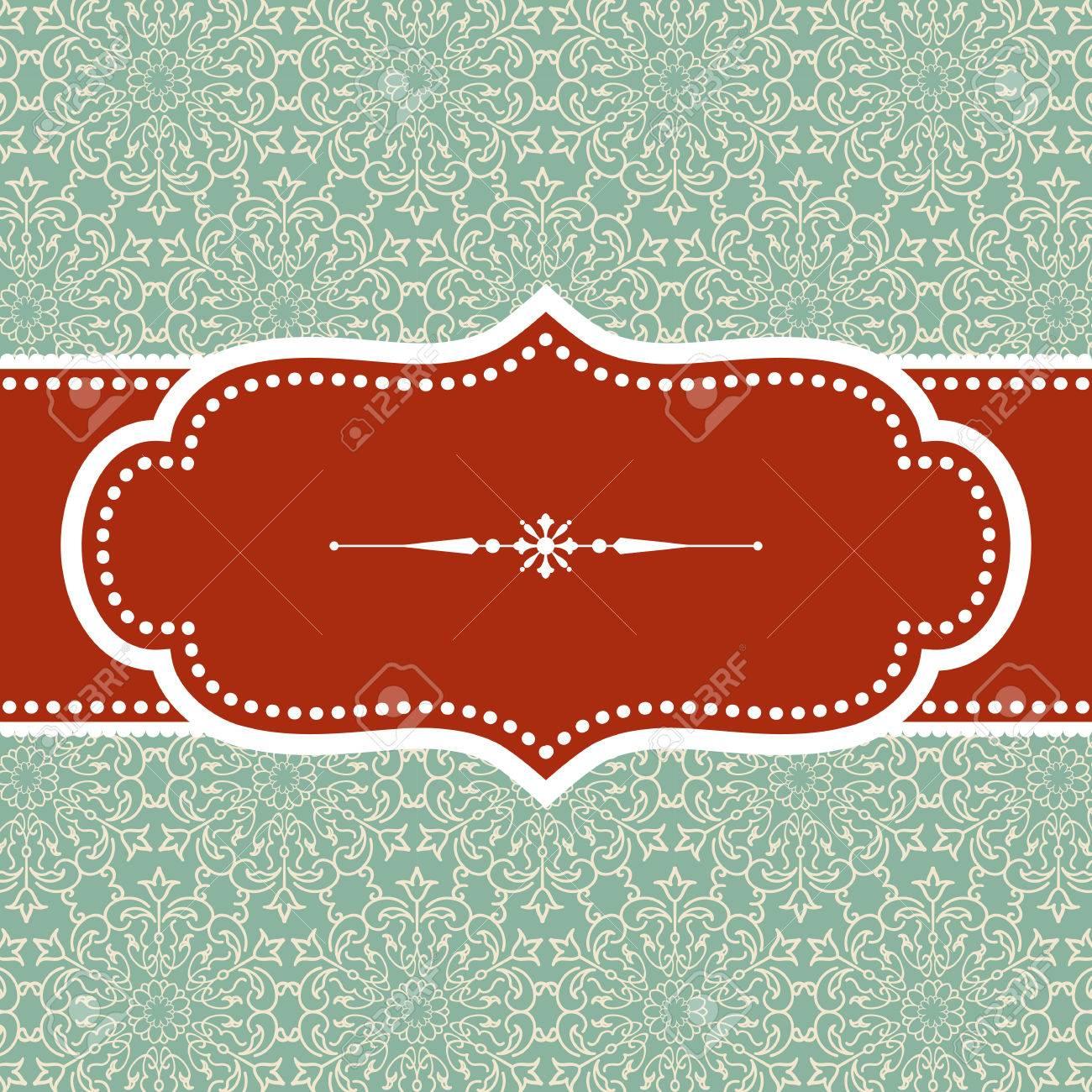 Fondo De La Navidad - Diseño Marco De La Vendimia Con El Divisor ...