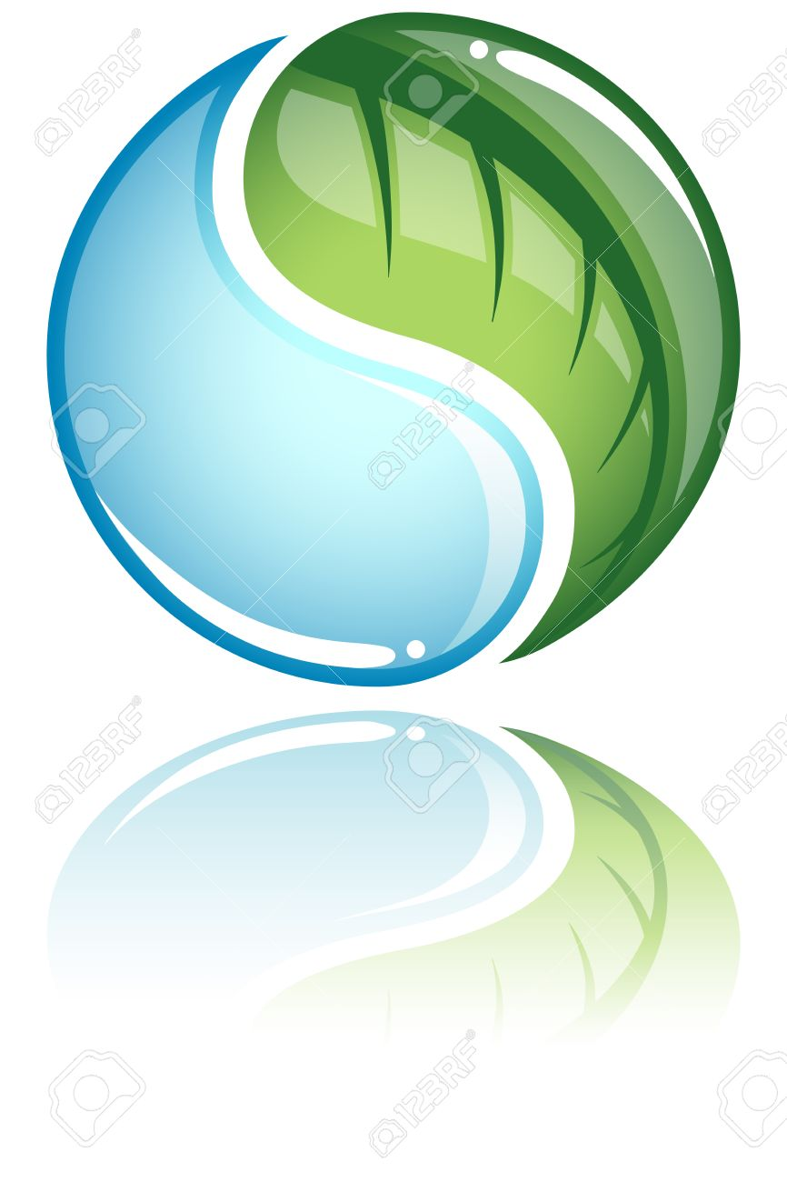 Nature concept nature icon concept with a leaf and water droplet nature concept nature icon concept with a leaf and water droplet as a yin yang buycottarizona