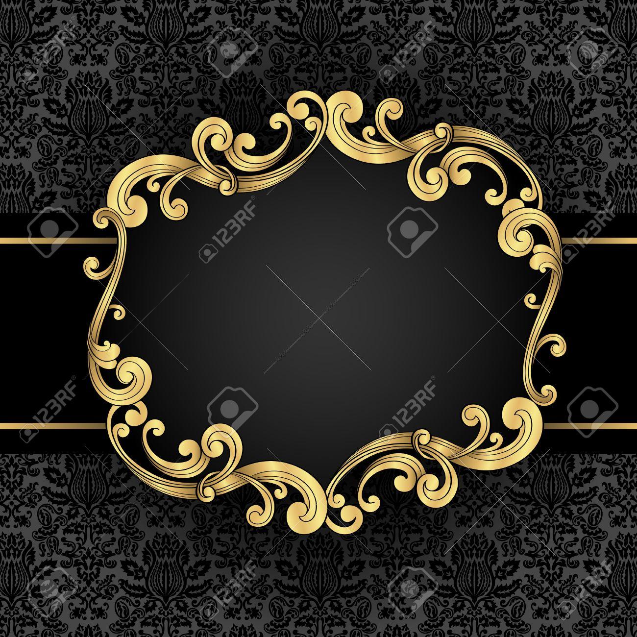 Verzierten Goldrahmen - Gold Verziert, Vintage-Rahmen Mit Nahtlose ...