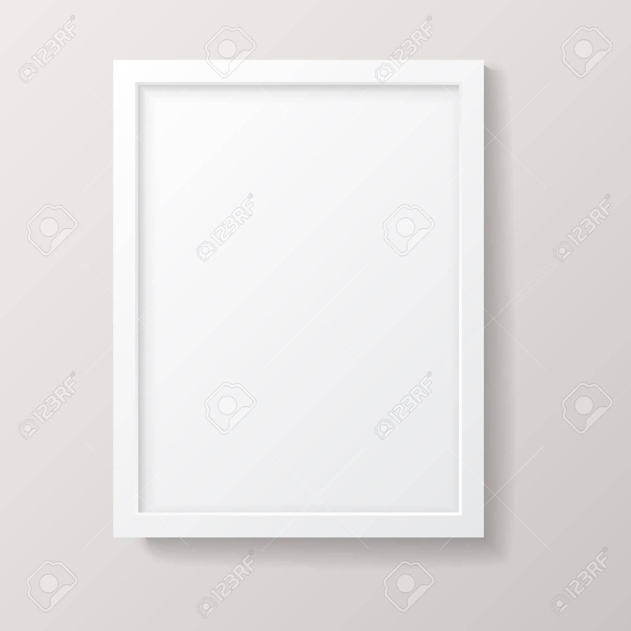 Realistische Leere Weiße Bilderrahmen - Realistische Leeren Weißen ...