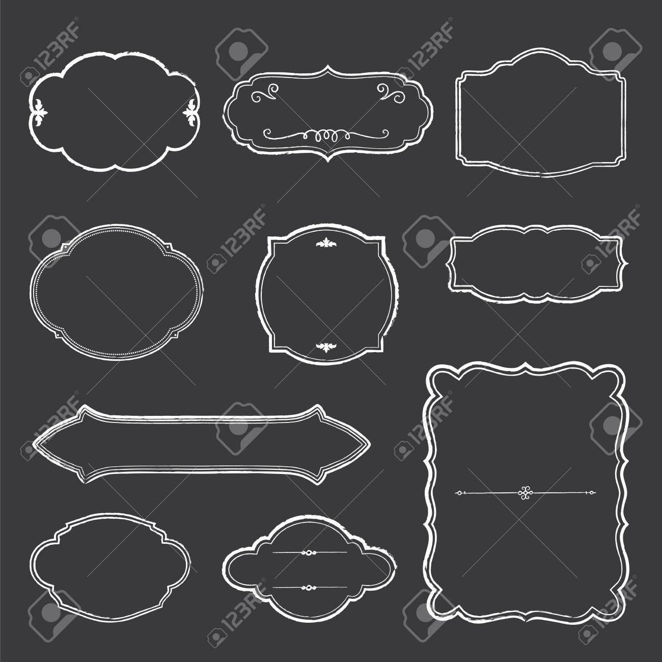 Chalkboard Frames - Set Of Chalk Frames. File Is Layered For ...
