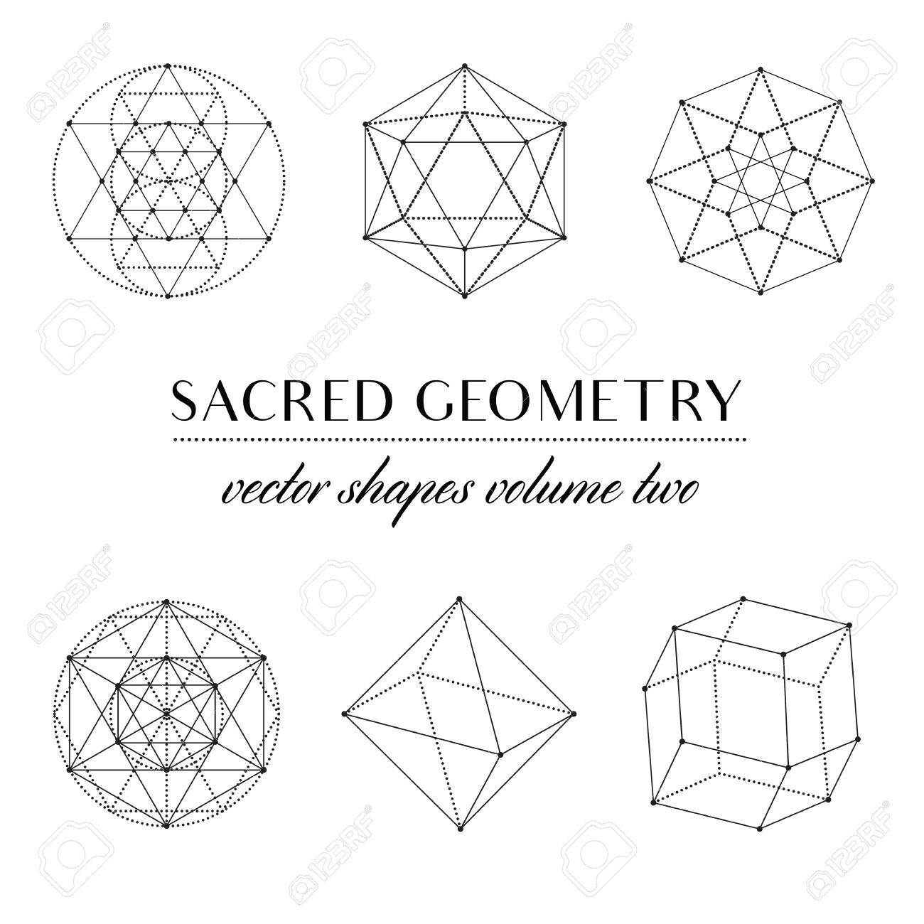 Sacred Geometry Volume Two   Set Of Sacred Geometry Art. Geometric Vector  Art Stock Vector