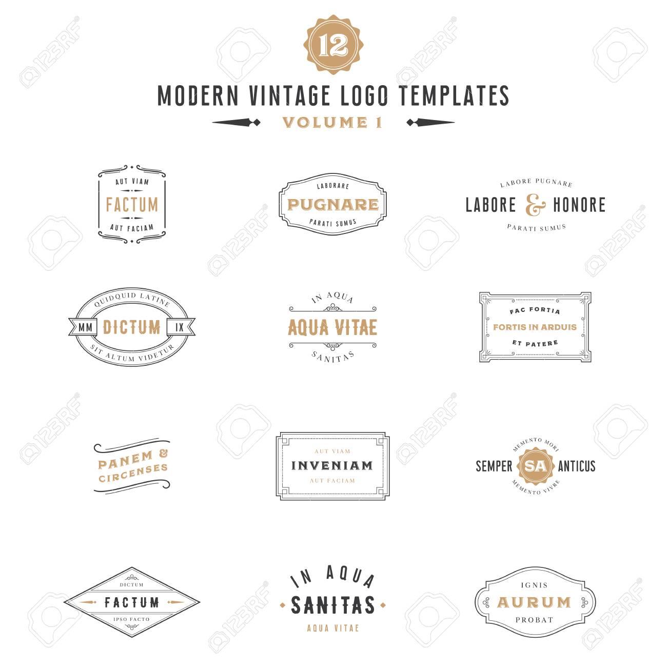 vintage labels and logo templates bundle collection of vintage
